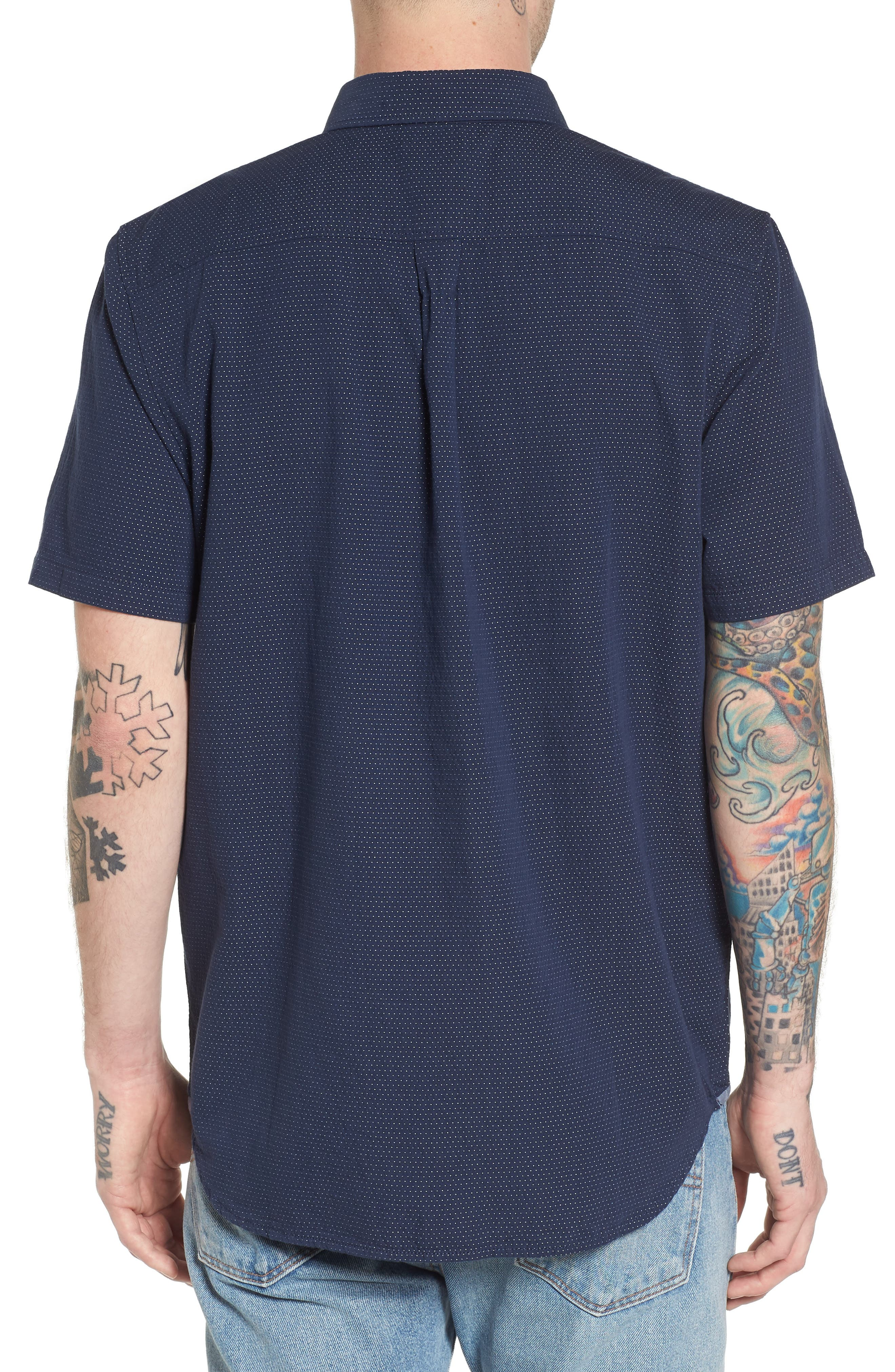 Giddings Short Sleeve Shirt,                             Alternate thumbnail 2, color,                             Dress Blues