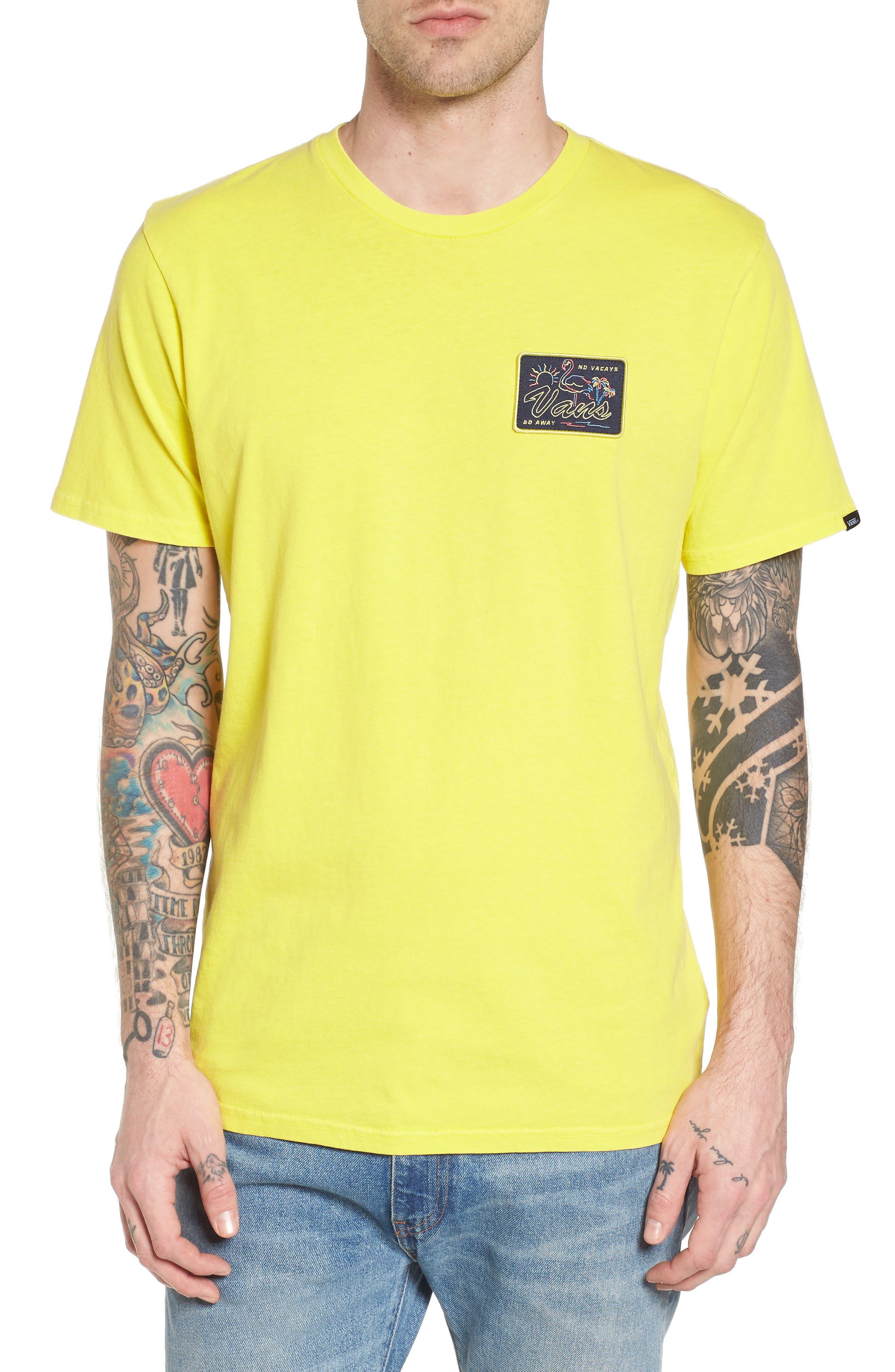 No Tourist Patch T-Shirt,                         Main,                         color, Green Sheen