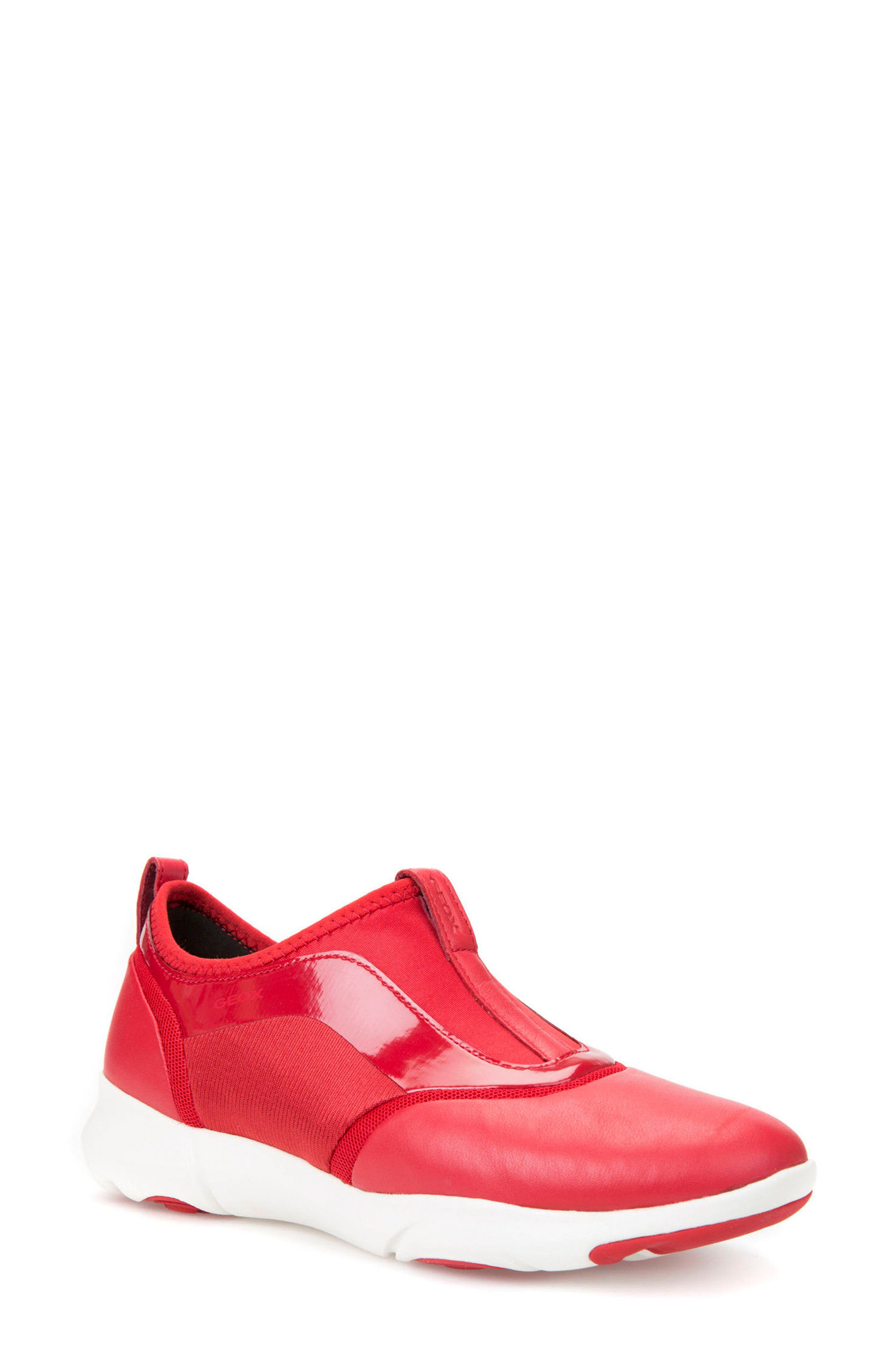 Nebula S Slip-On Sneaker,                             Main thumbnail 1, color,                             Red Leather