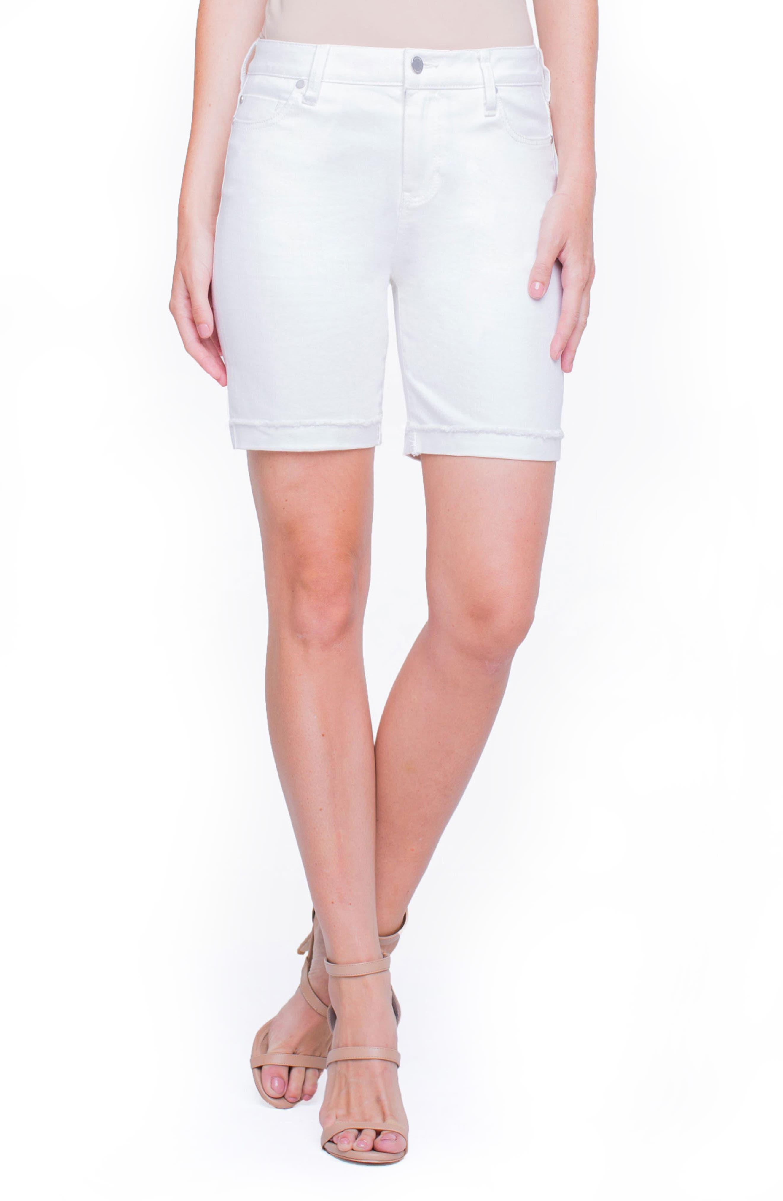 Casey White Denim Shorts,                         Main,                         color, Bright White