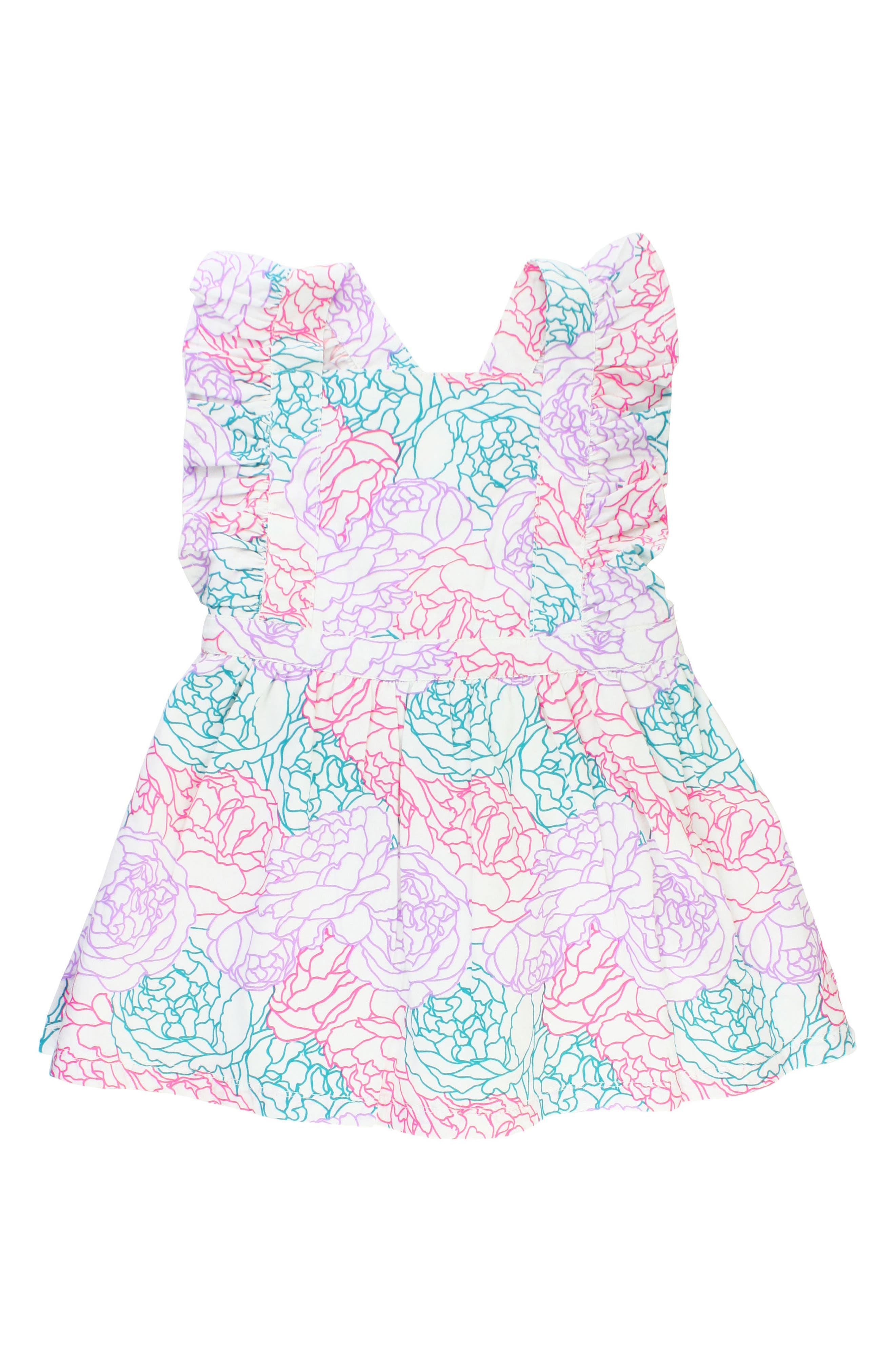 Peony Party Dress,                             Main thumbnail 1, color,                             White