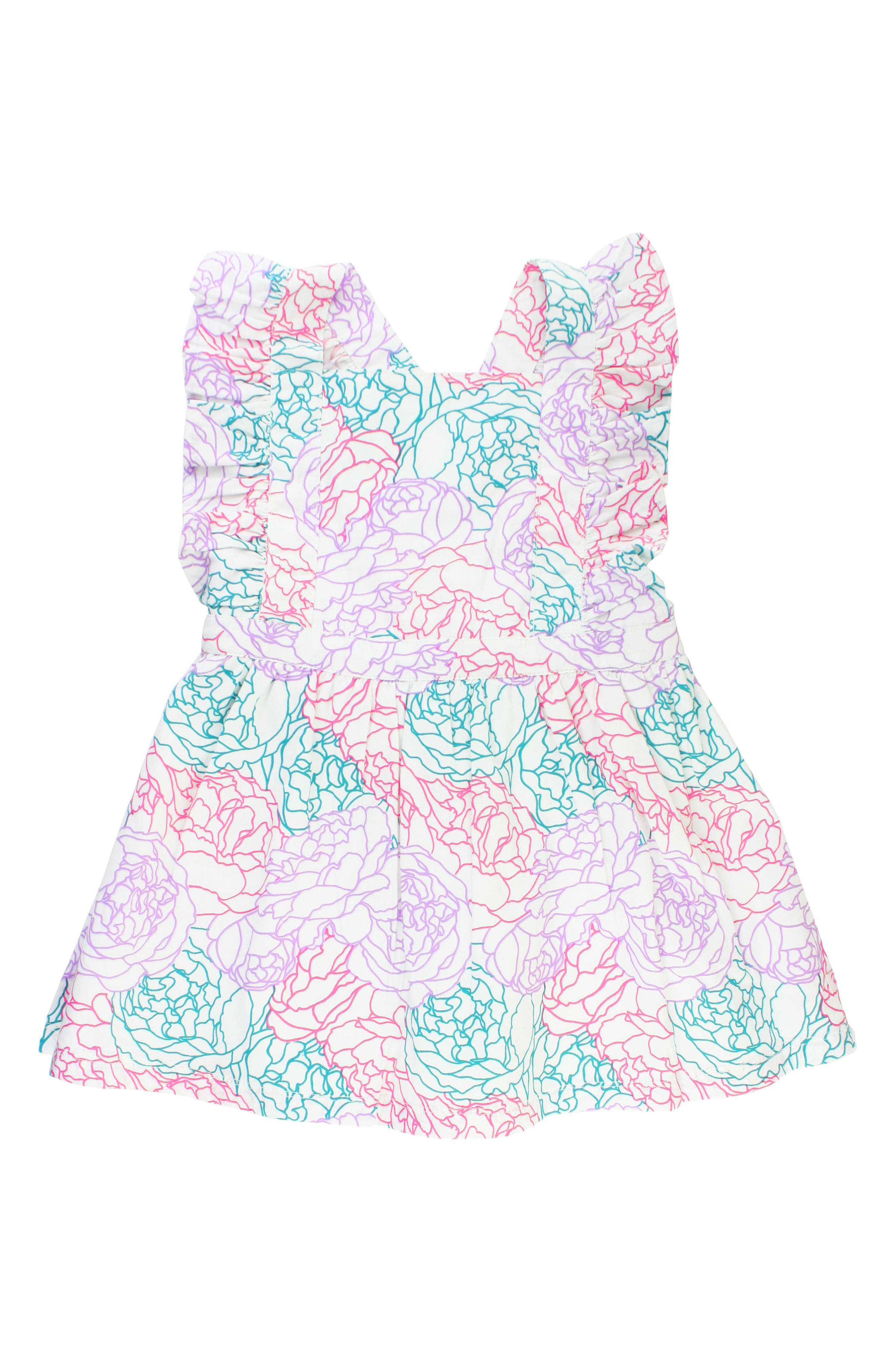 Peony Party Dress,                         Main,                         color, White