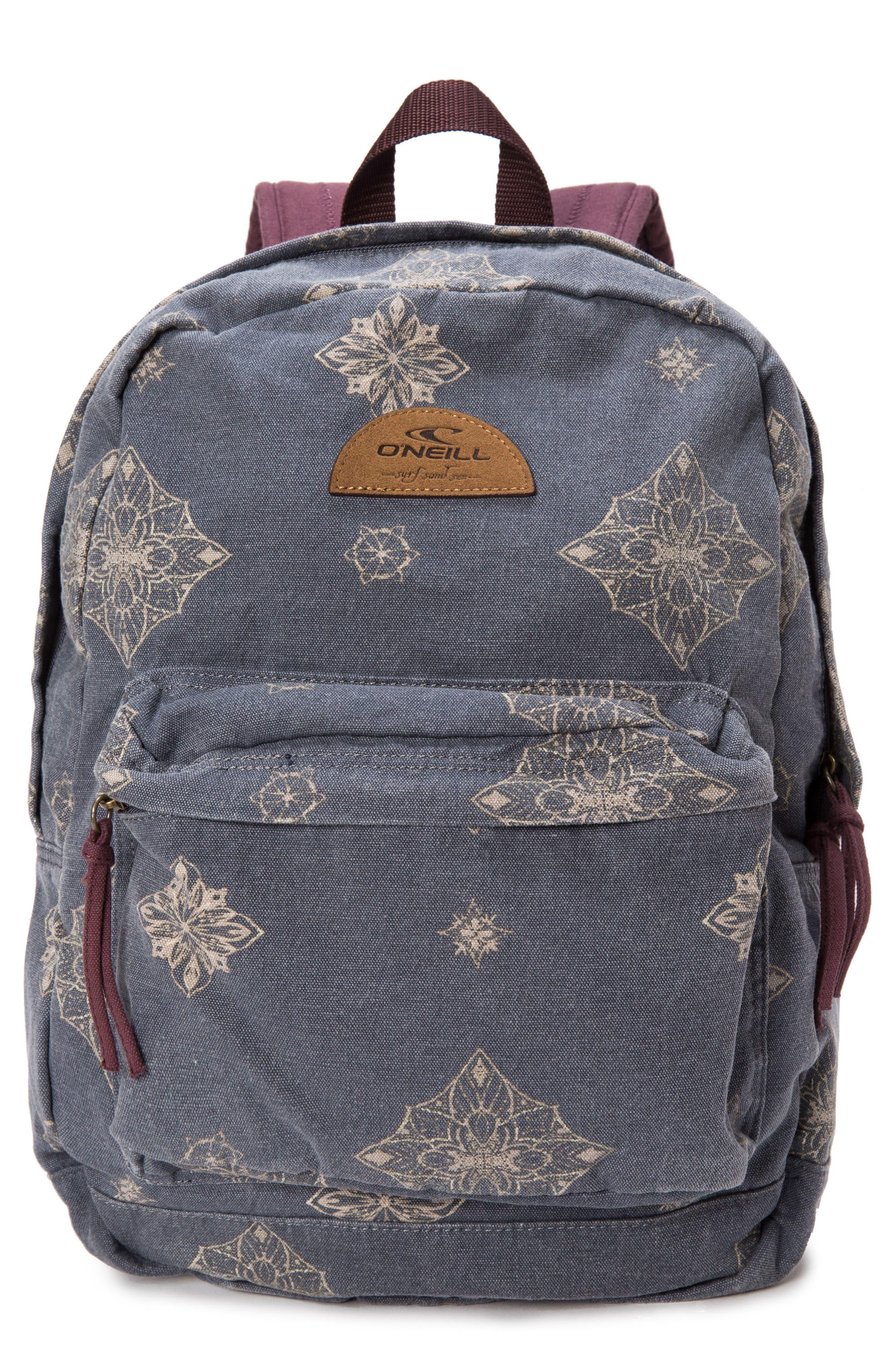 Beachblazer Print Canvas Backpack,                         Main,                         color, Obre Blue