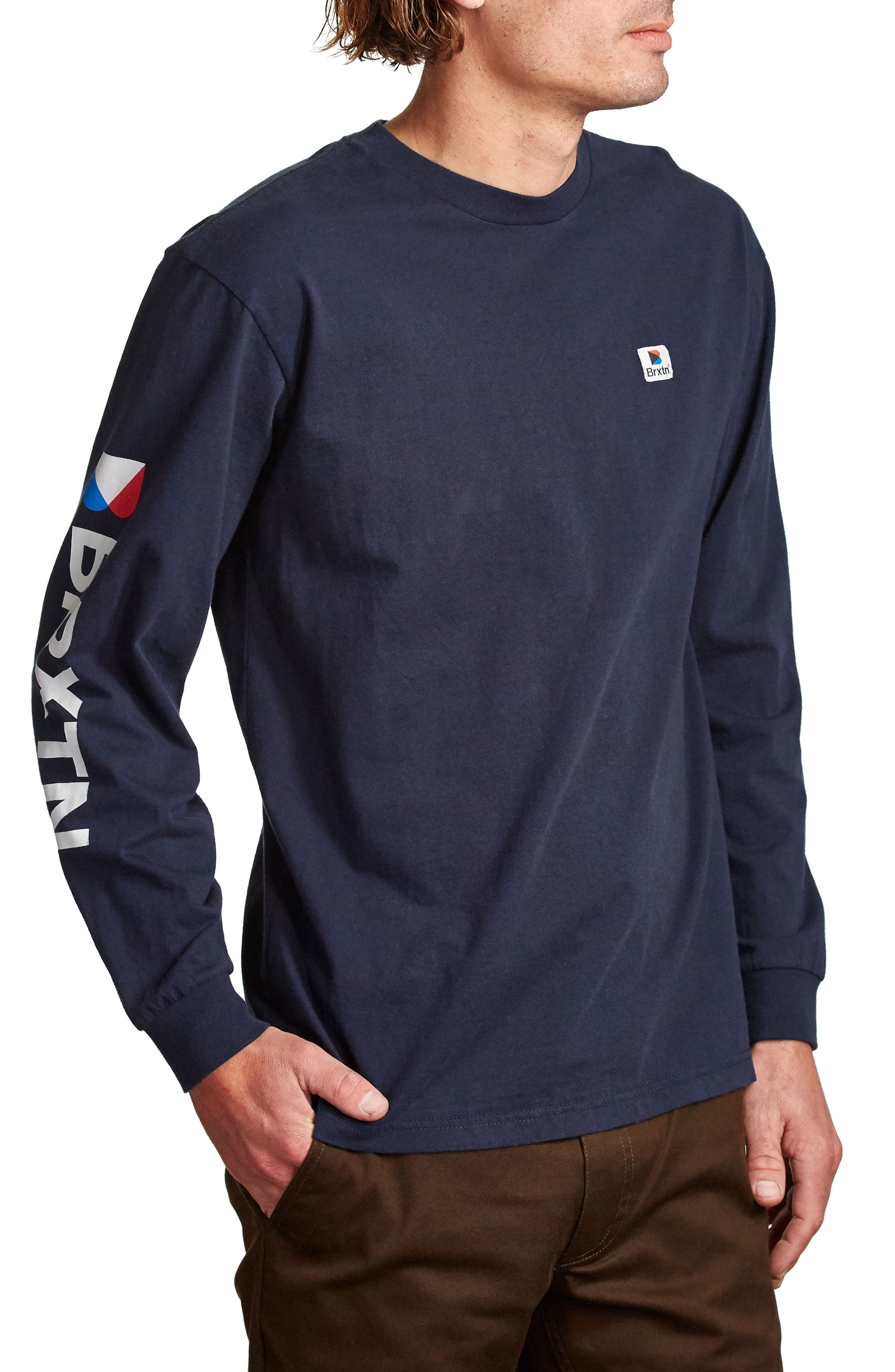 Stowell T-Shirt,                             Alternate thumbnail 3, color,                             Navy