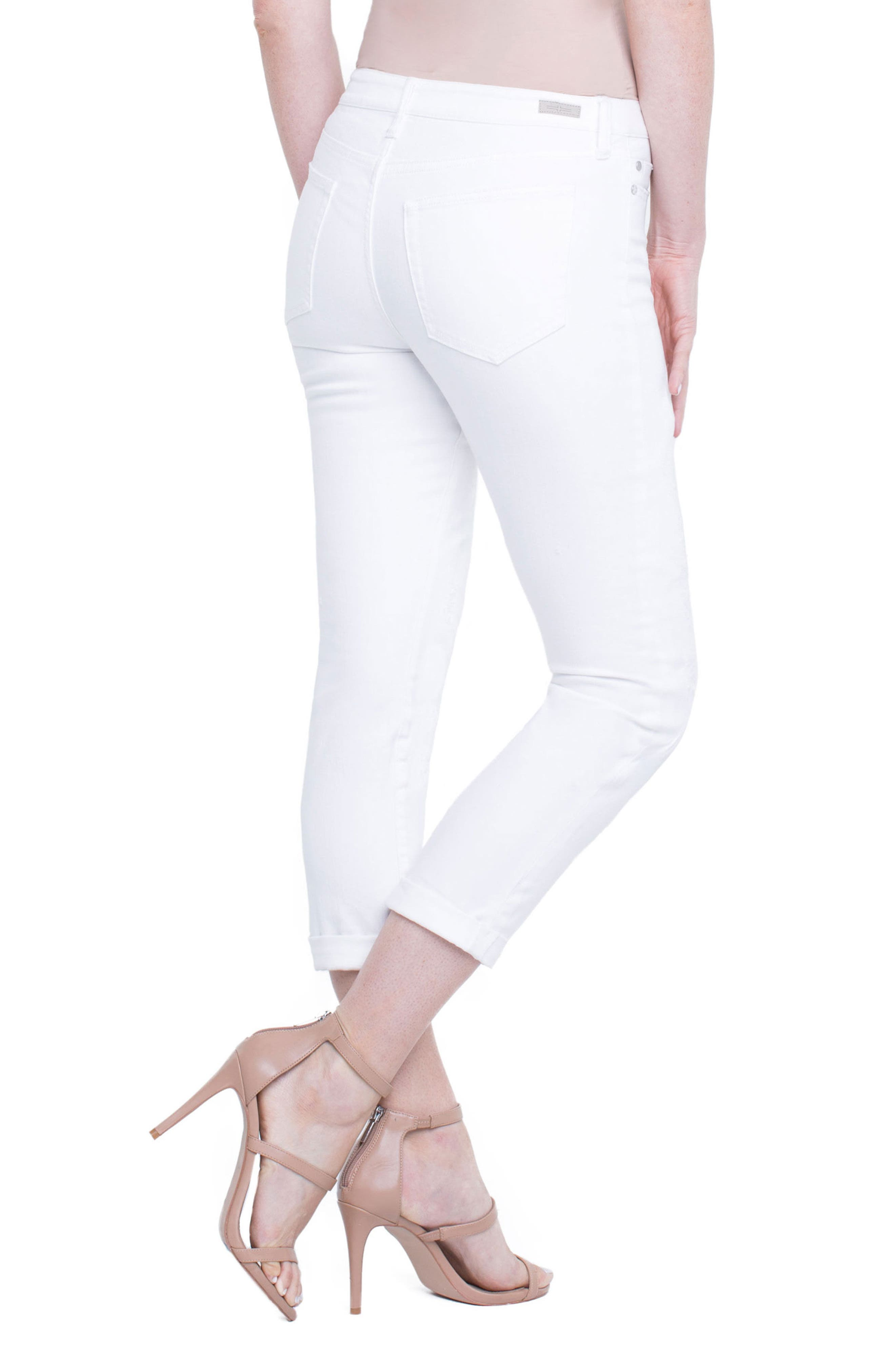 Marley Girlfriend Jeans,                             Alternate thumbnail 3, color,                             Luna White Mended