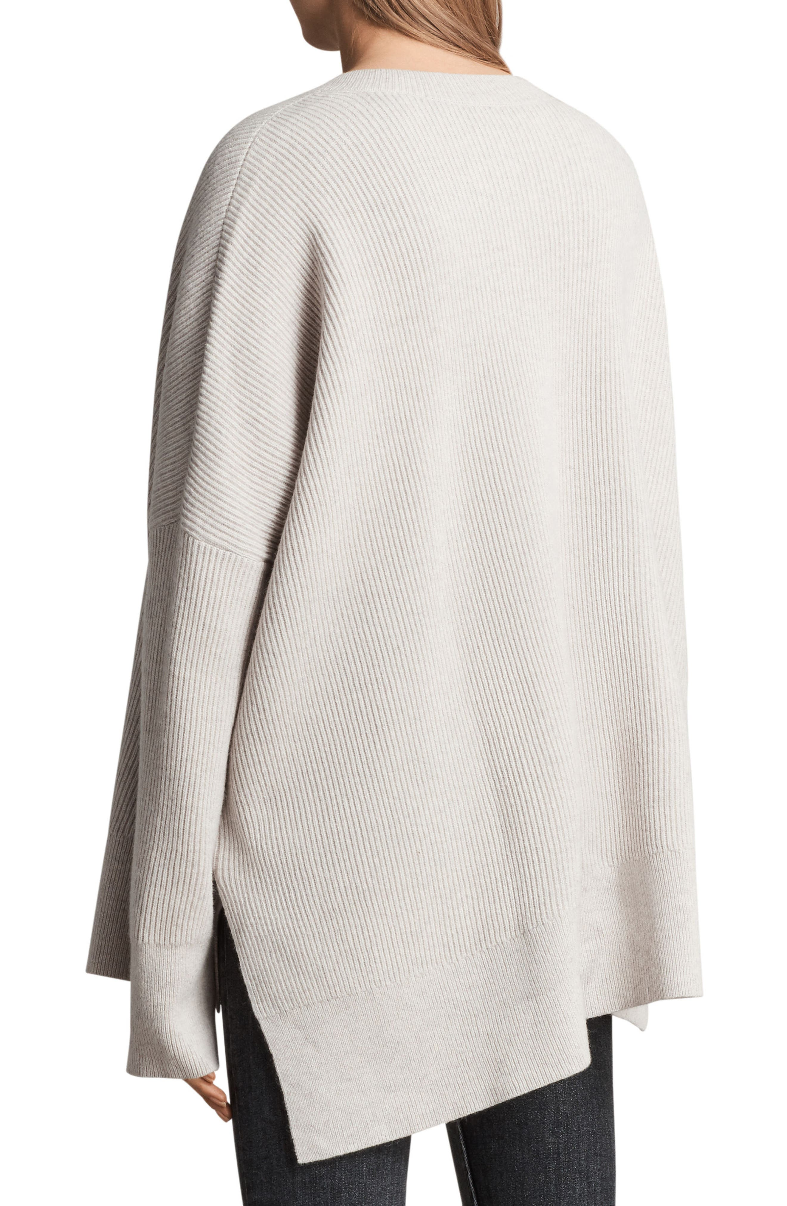 Able Laced Sweater,                             Alternate thumbnail 3, color,                             Porcelain White