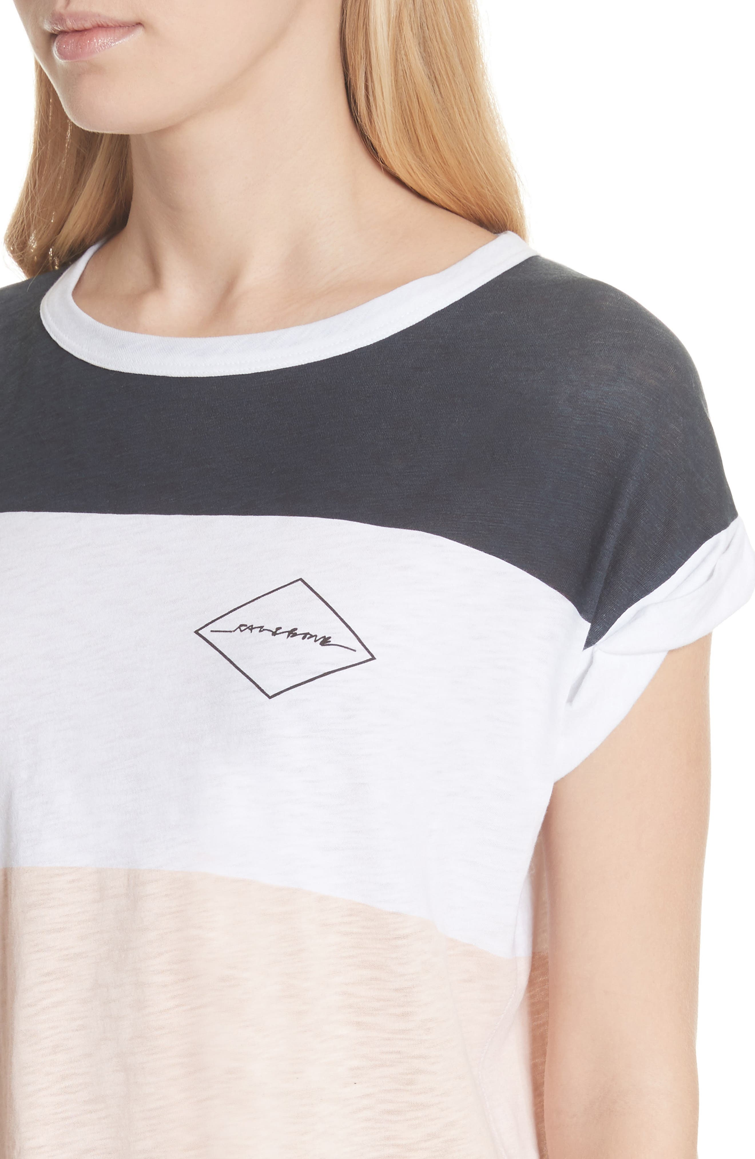 Percy Colorblock Muscle Tee,                             Alternate thumbnail 4, color,                             Navy Multi