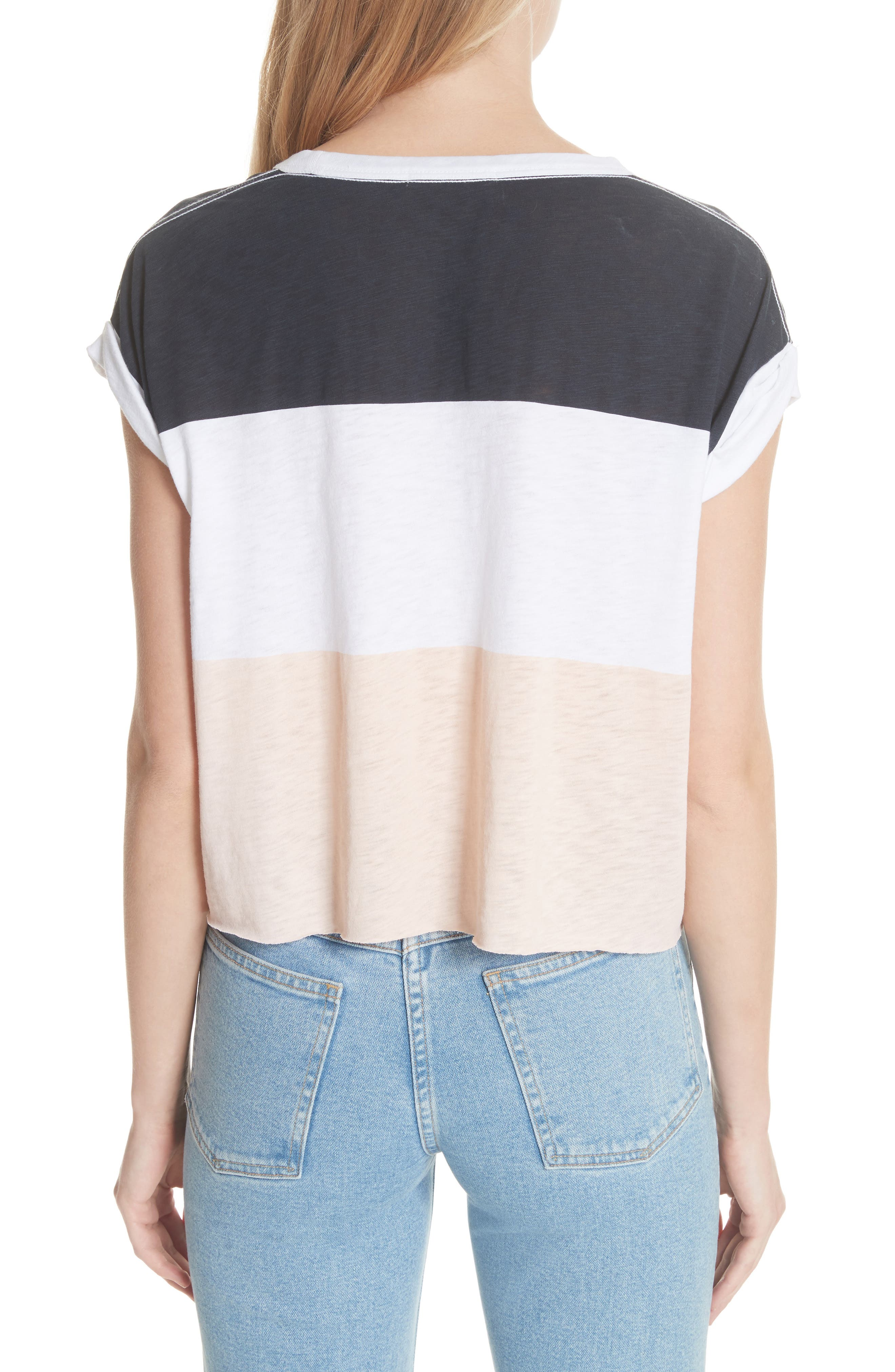 Percy Colorblock Muscle Tee,                             Alternate thumbnail 2, color,                             Navy Multi