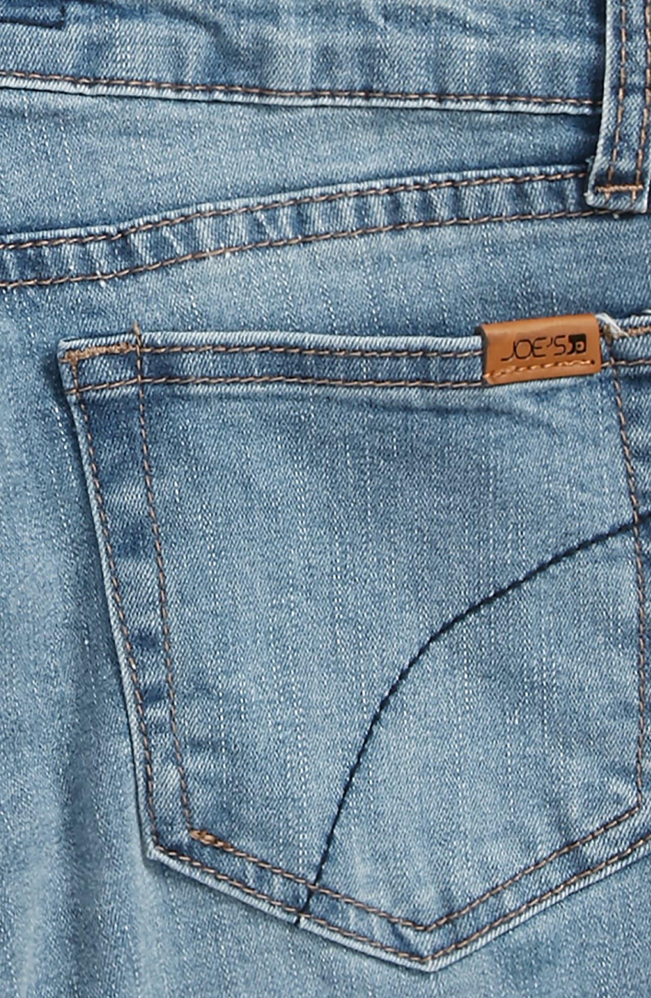Frayed Mid Rise Bermuda Denim Shorts,                             Alternate thumbnail 3, color,                             Mdw-Medium Wash