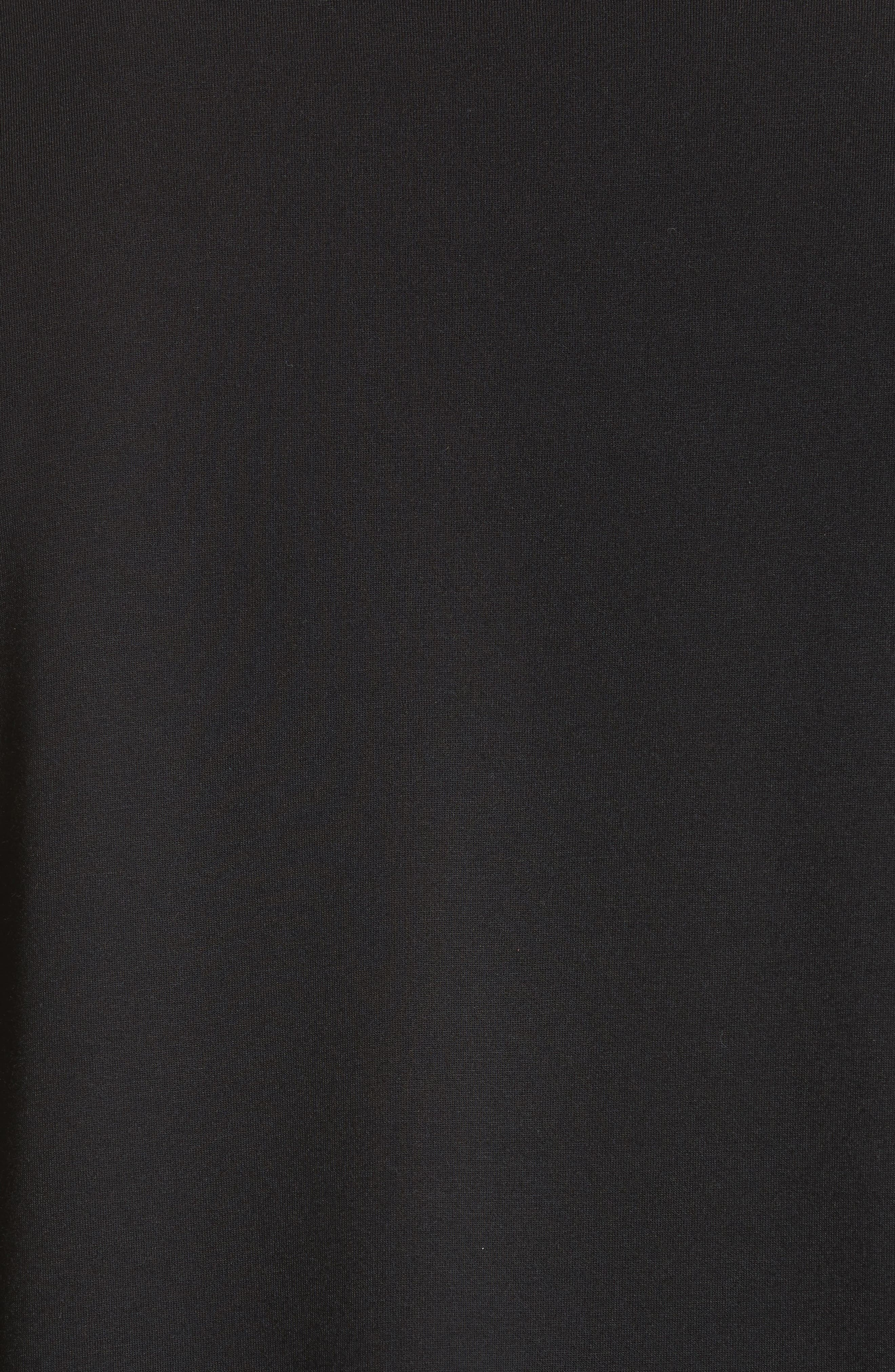 Logo Graphic Long Sleeve T-Shirt,                             Alternate thumbnail 5, color,                             Black