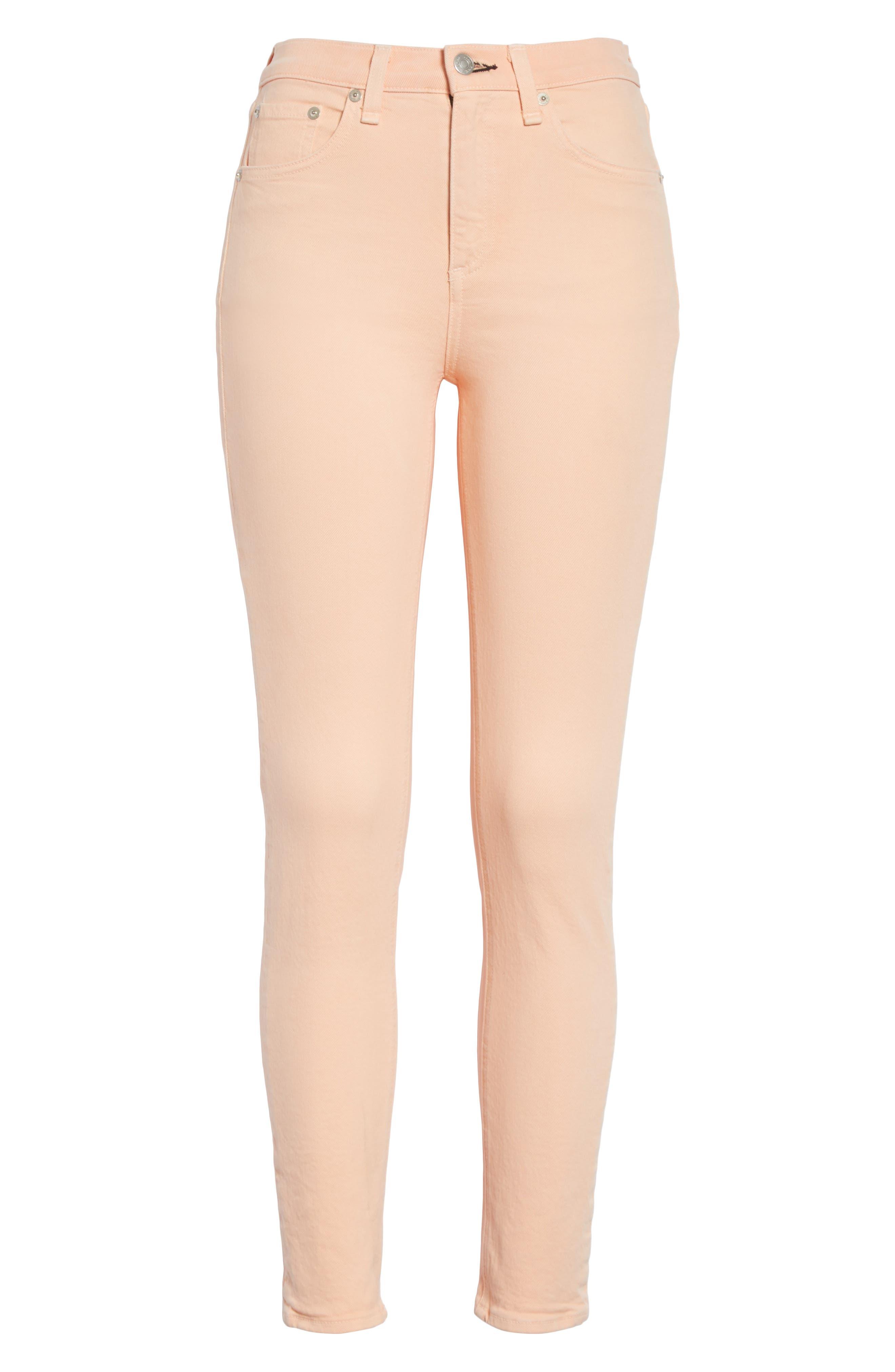 High Waist Ankle Skinny Jeans,                             Alternate thumbnail 6, color,                             Prairie Sun