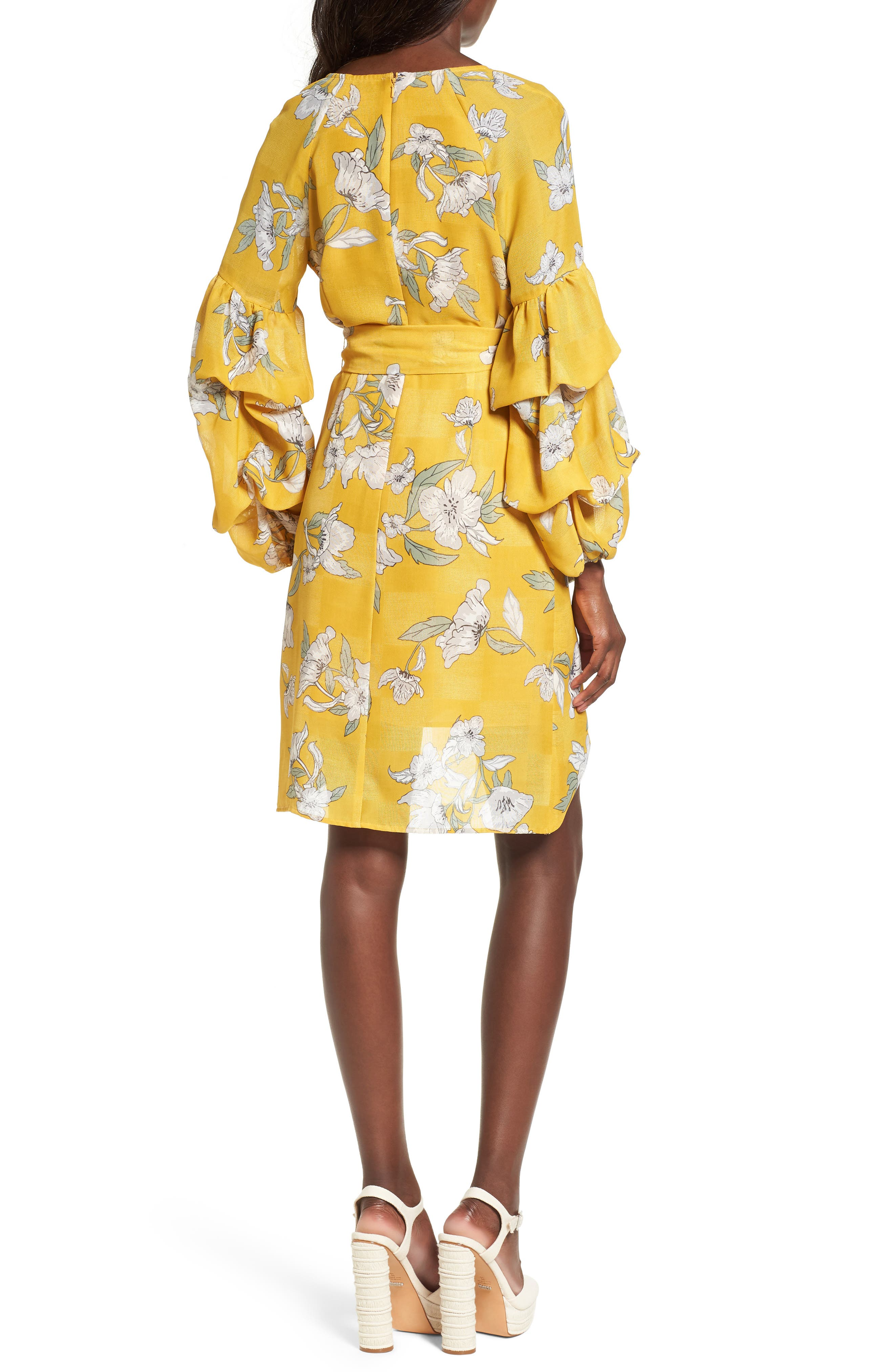 Chriselle x J.O.A. Tiered Sleeve Minidress,                             Alternate thumbnail 6, color,                             Quince Blossom