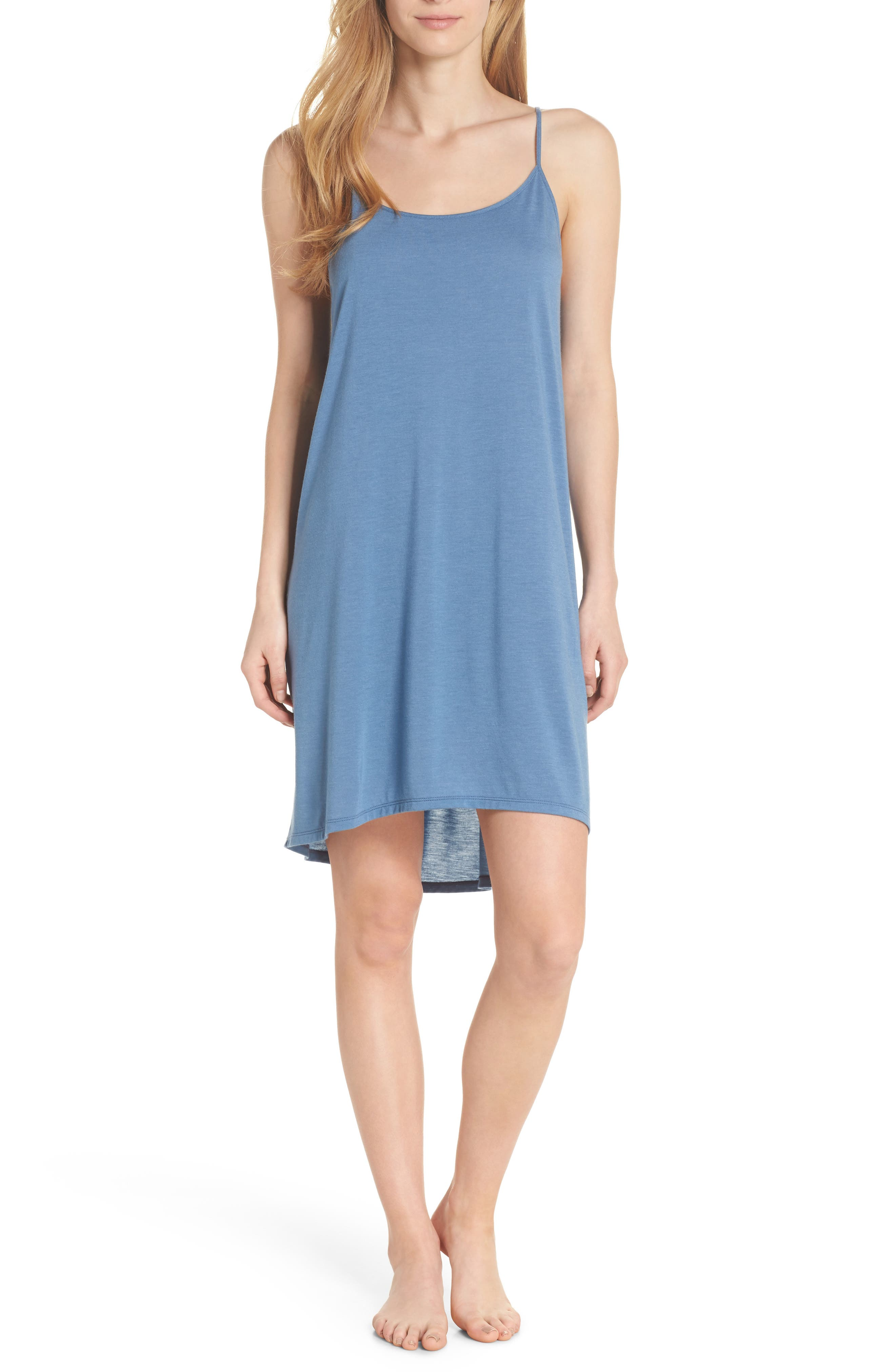 Heather Tees Chemise,                         Main,                         color, Bsq Ht Blue Shadow