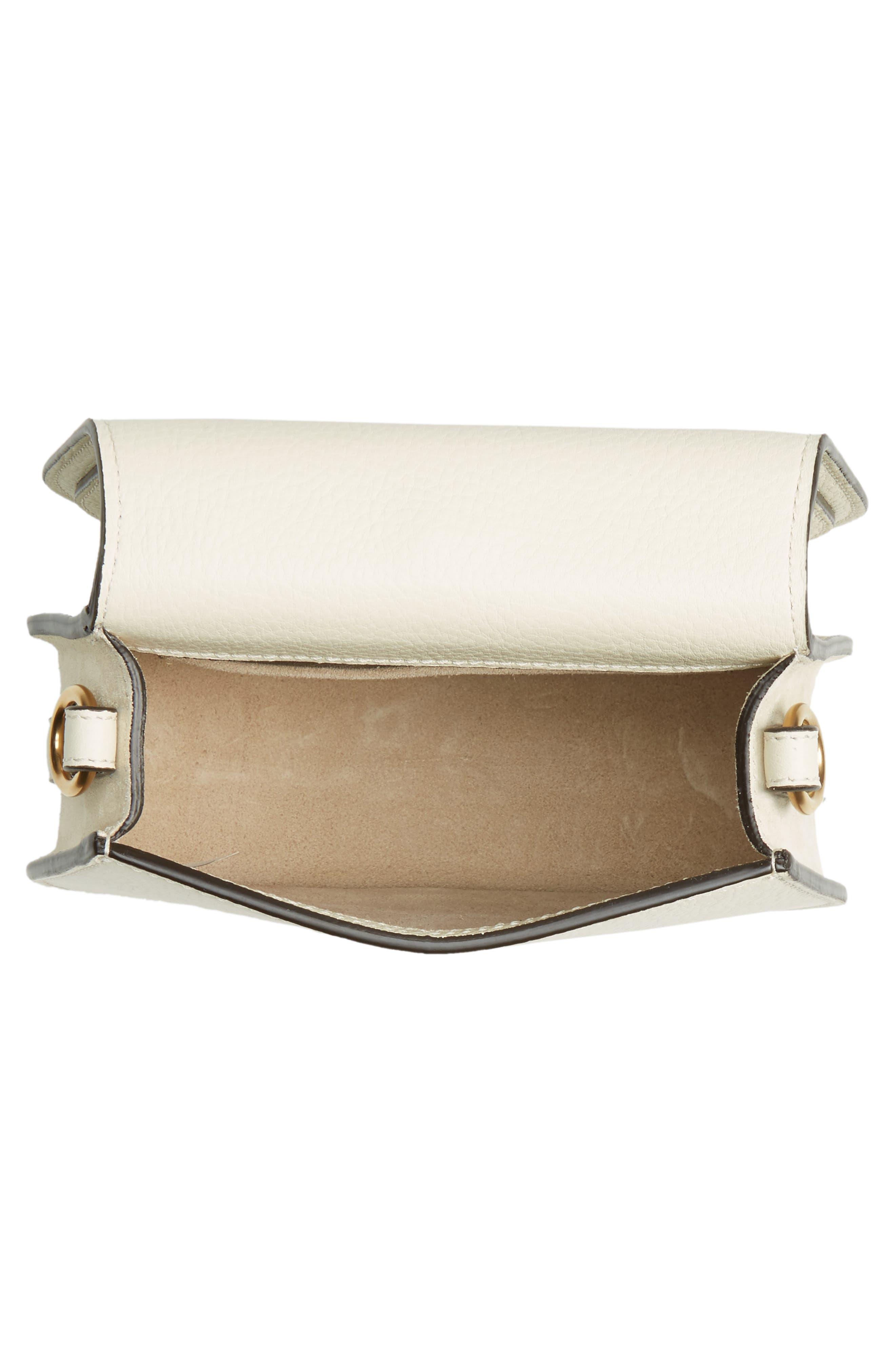 Small Nile Bracelet Leather Crossbody Bag,                             Alternate thumbnail 4, color,                             Off White