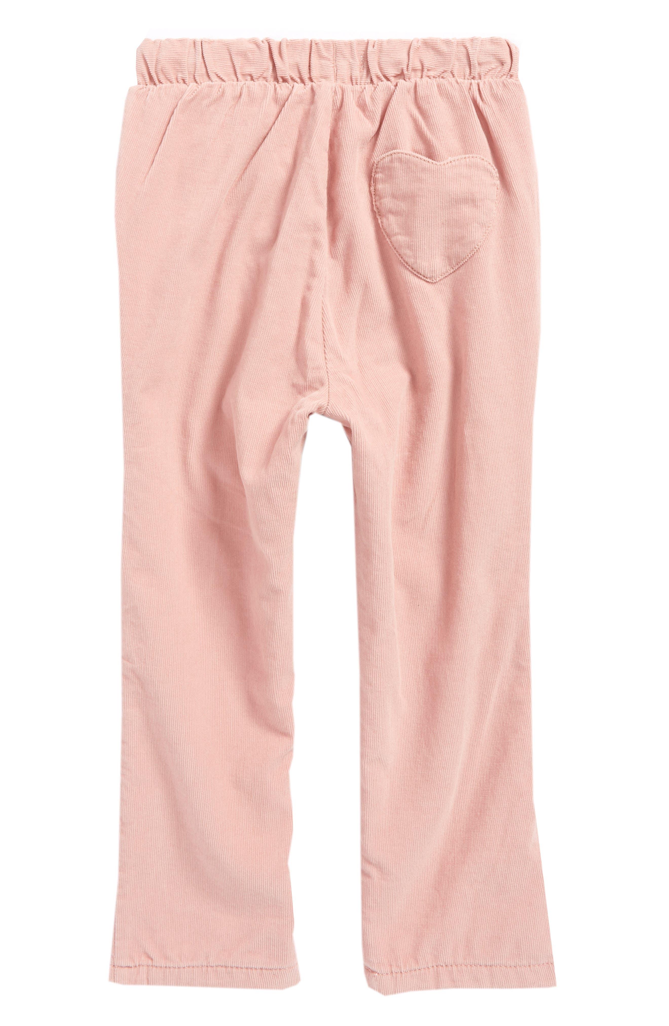 Alternate Image 2  - Mini Boden Heart Pocket Corduroy Pants (Baby Girls & Toddler Girls)