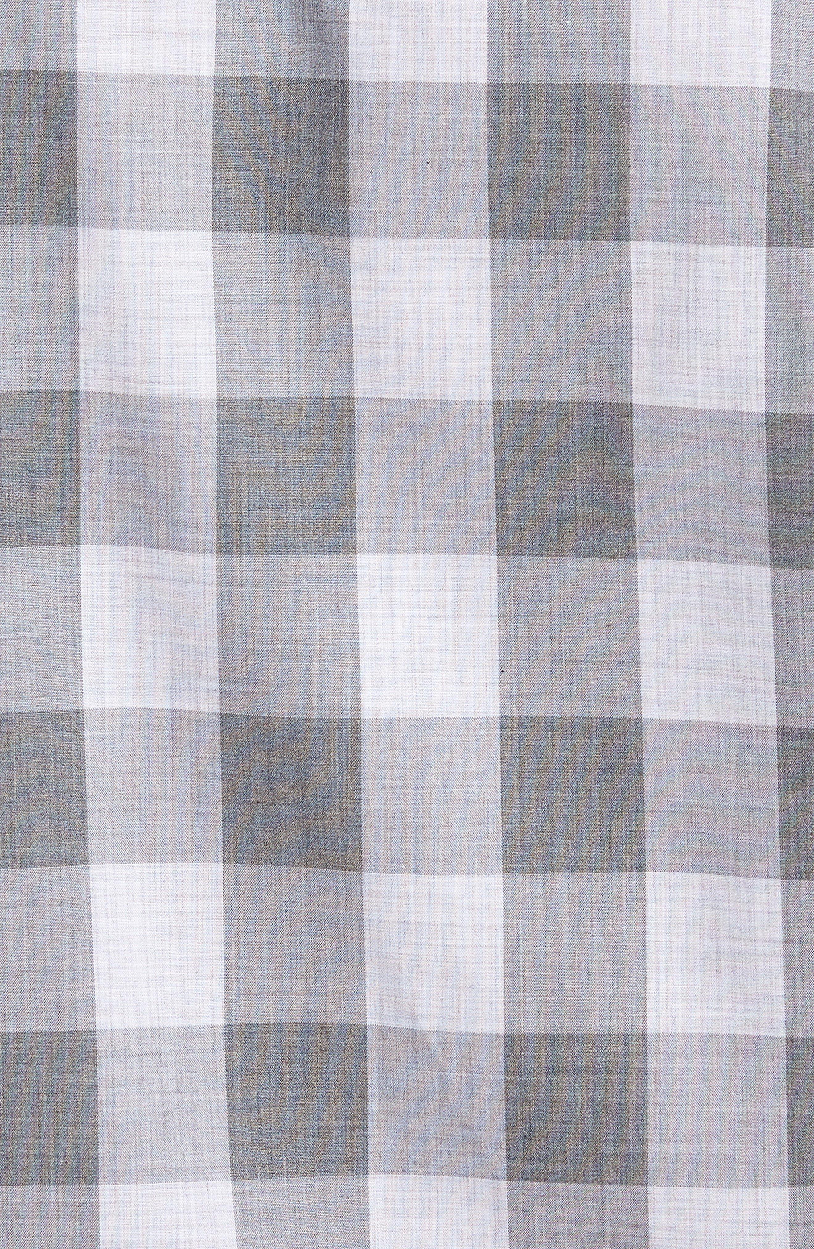 Trim Fit Check Sport Shirt,                             Alternate thumbnail 5, color,                             Grey Shade Buffalo