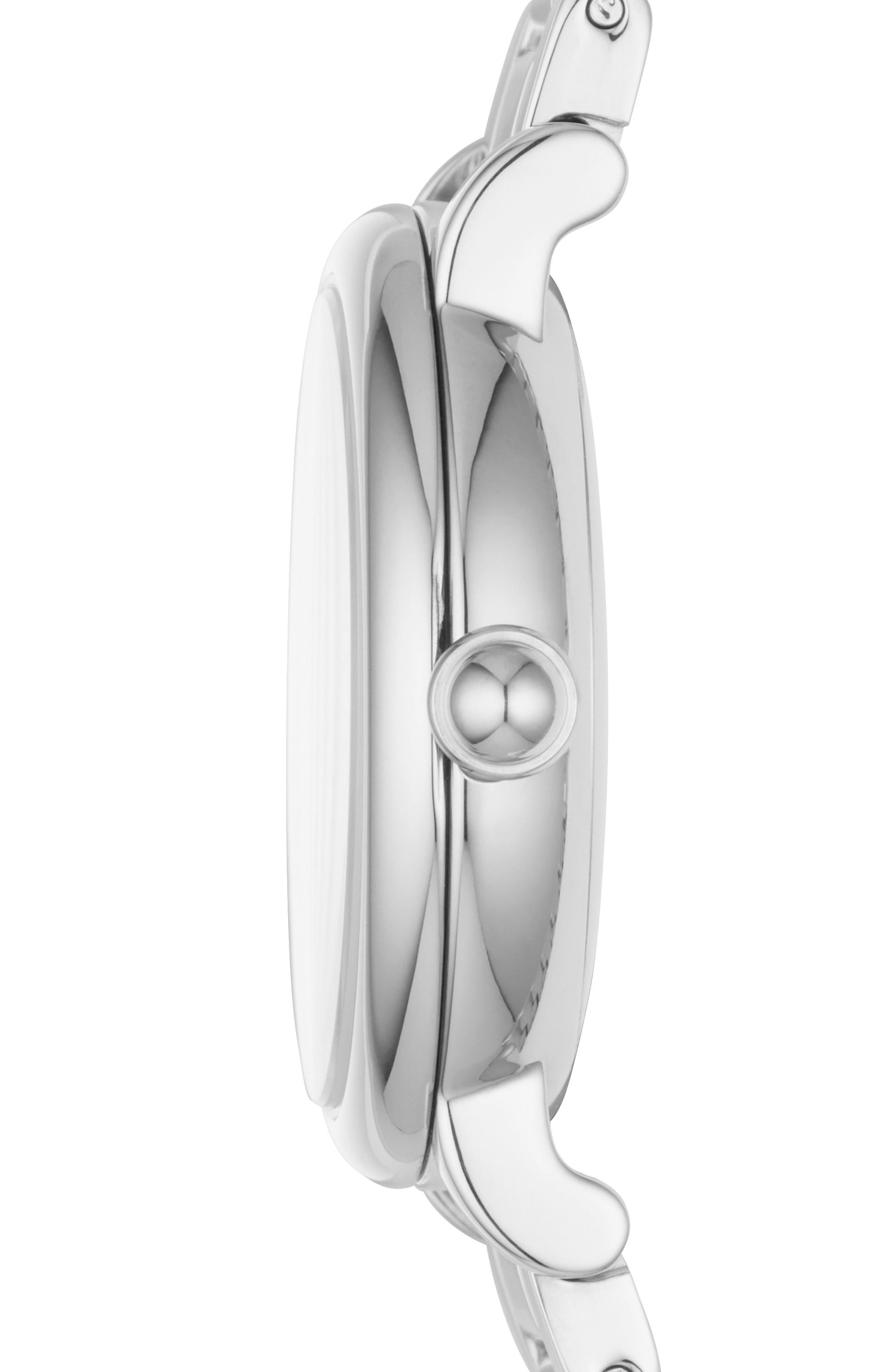Classic Bracelet Watch, 29mm,                             Alternate thumbnail 2, color,                             Silver/ White/ Silver