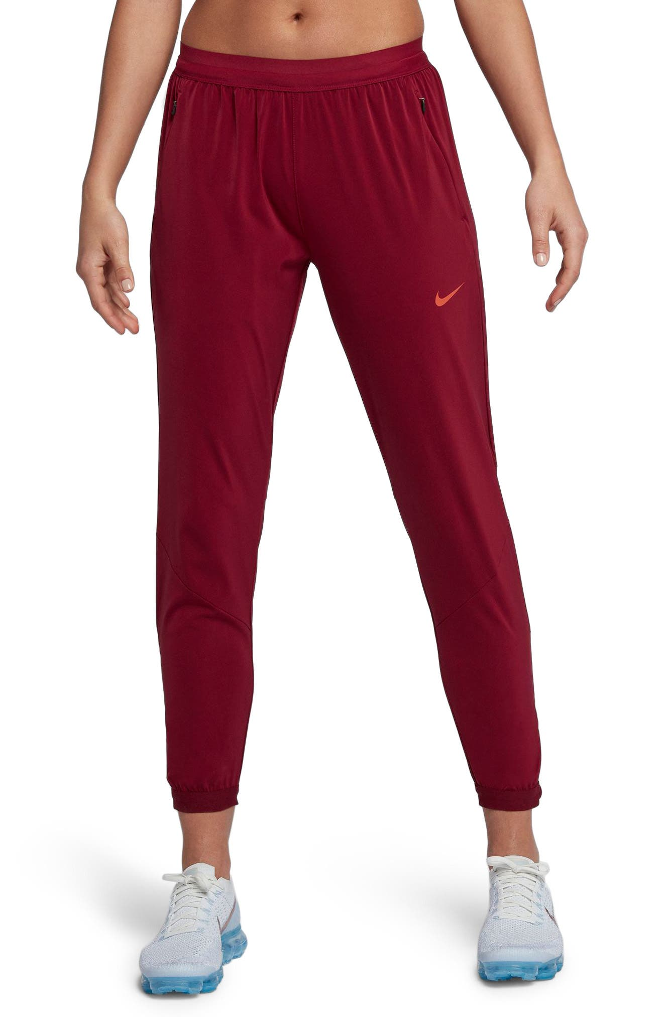 Women's Dry Running Stadium Pants,                         Main,                         color, Team Red/ Vintage Coral