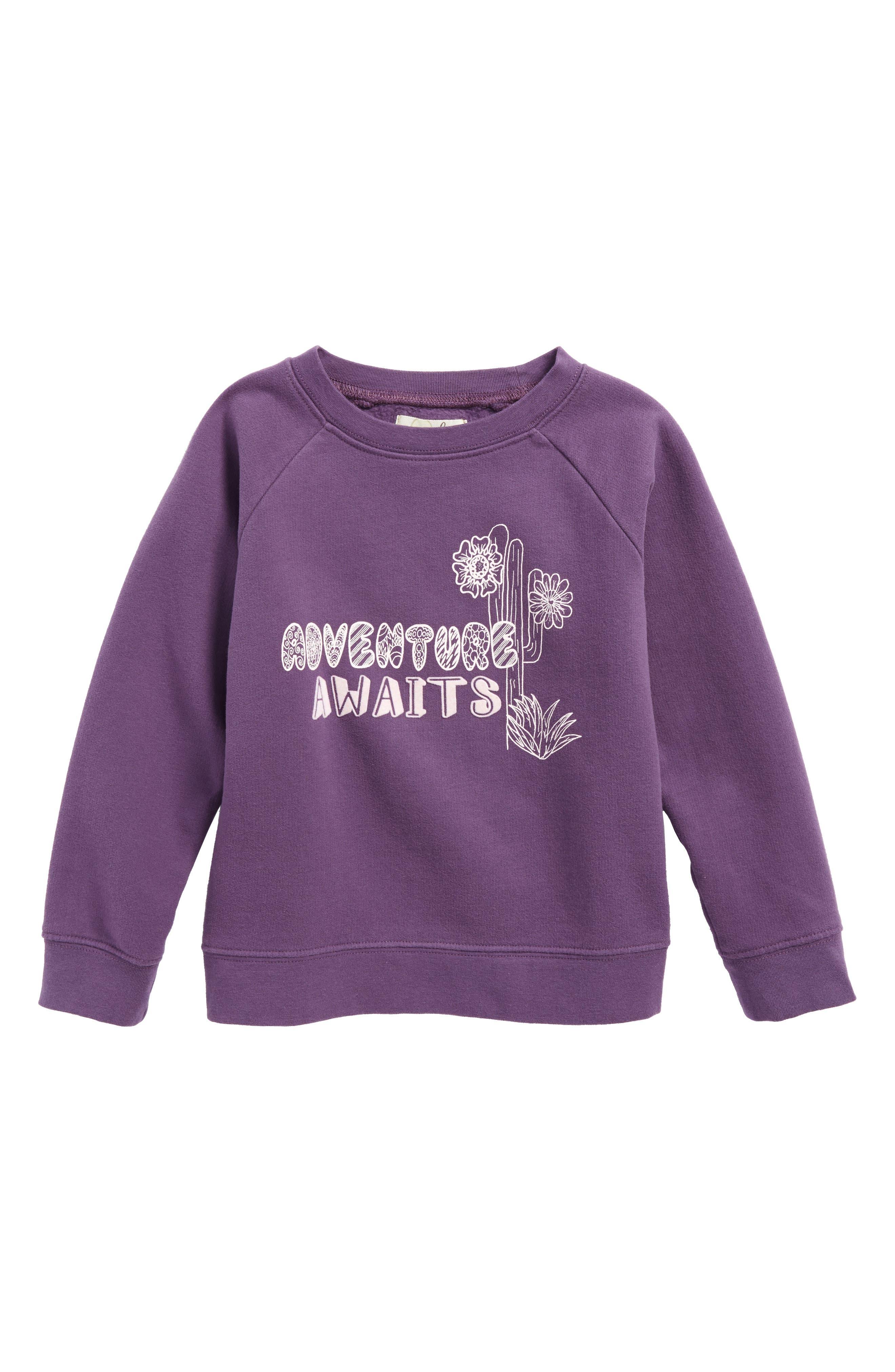 Peek Adventure Awaits Sweatshirt (Toddler Girls, Little Girls & Big Girls)