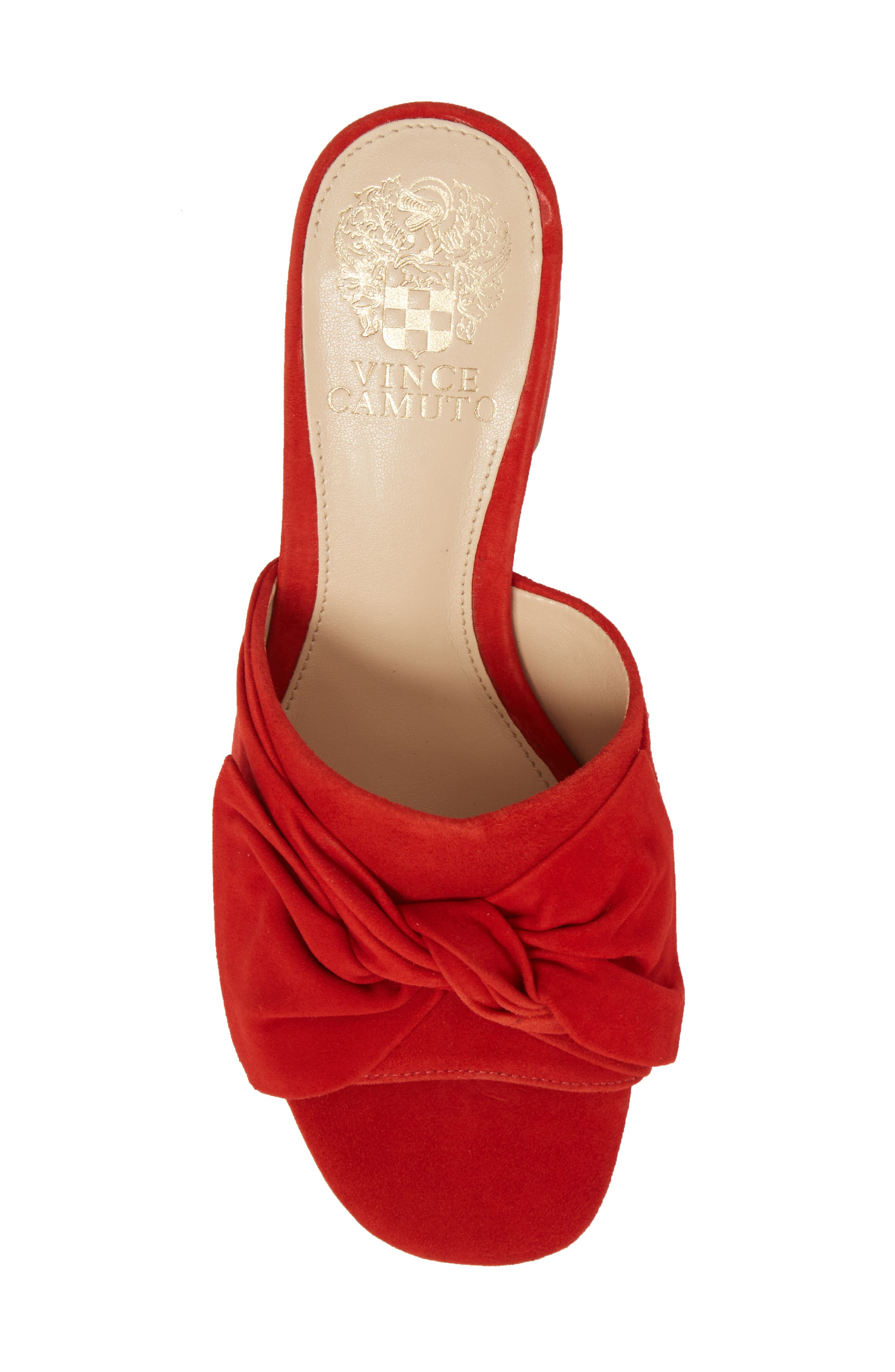 Sharrey Sandal,                             Alternate thumbnail 5, color,                             Red Hot Rio Suede