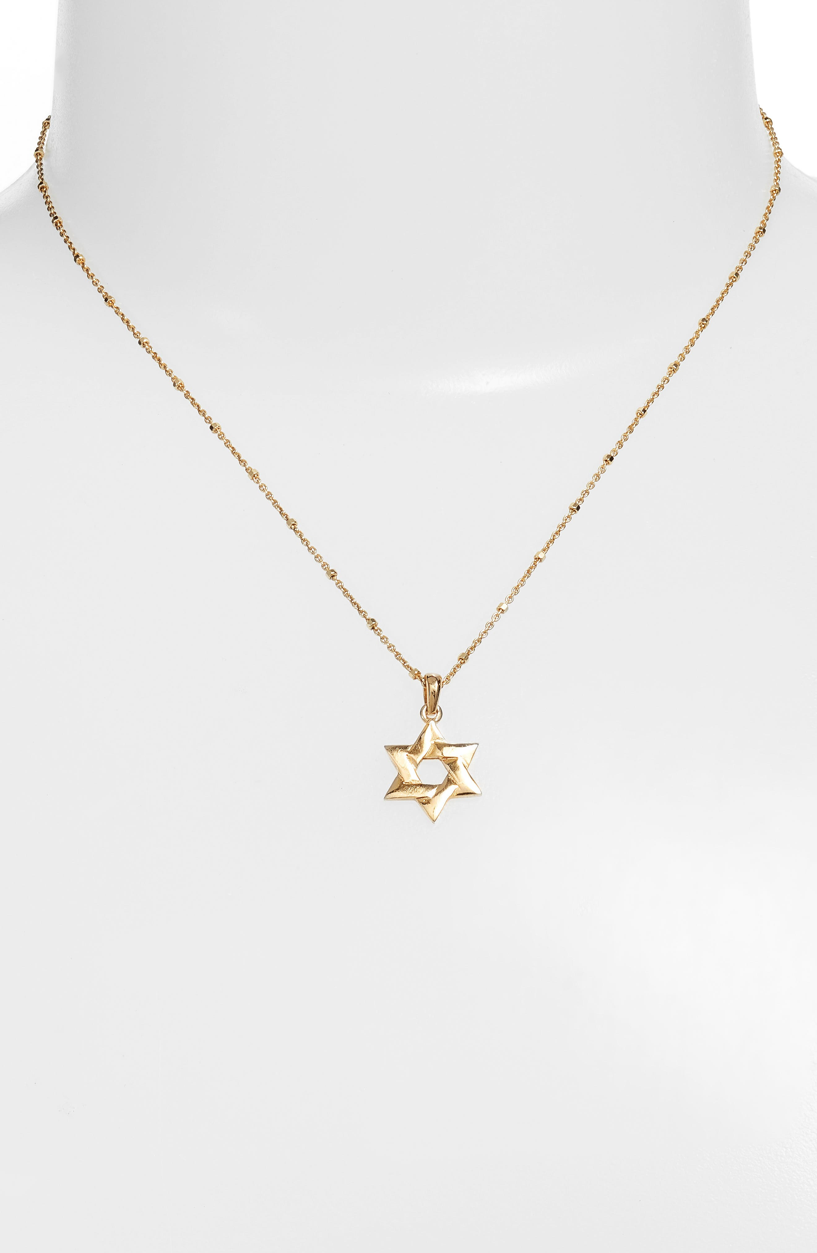Star of David Pendant Necklace,                             Alternate thumbnail 2, color,                             Gold