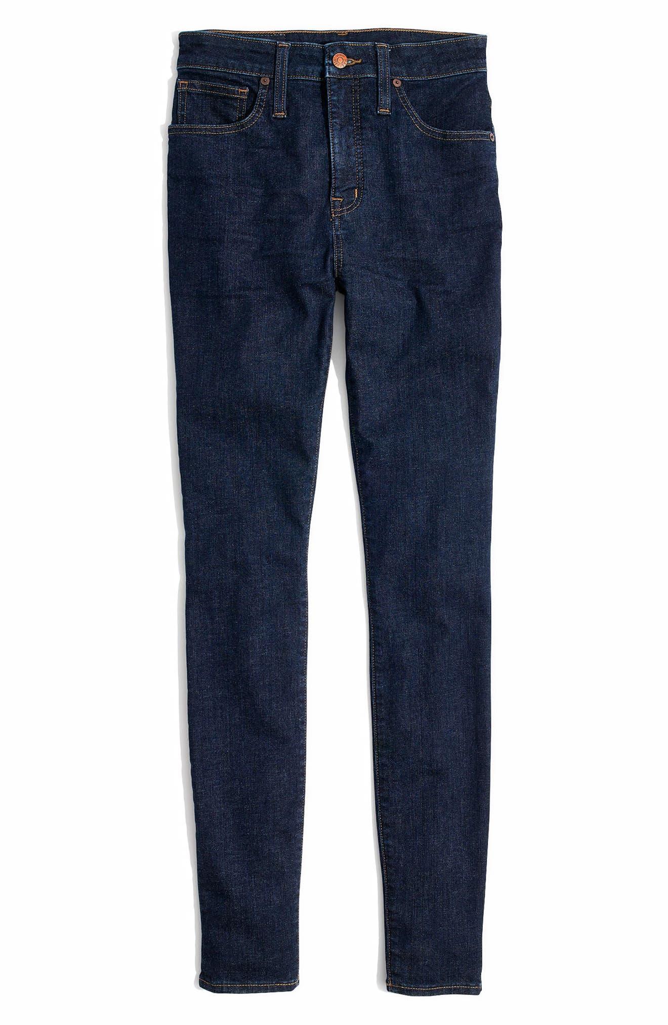 Alternate Image 5  - Madewell Curvy High Waist Skinny Jeans (Lucille)