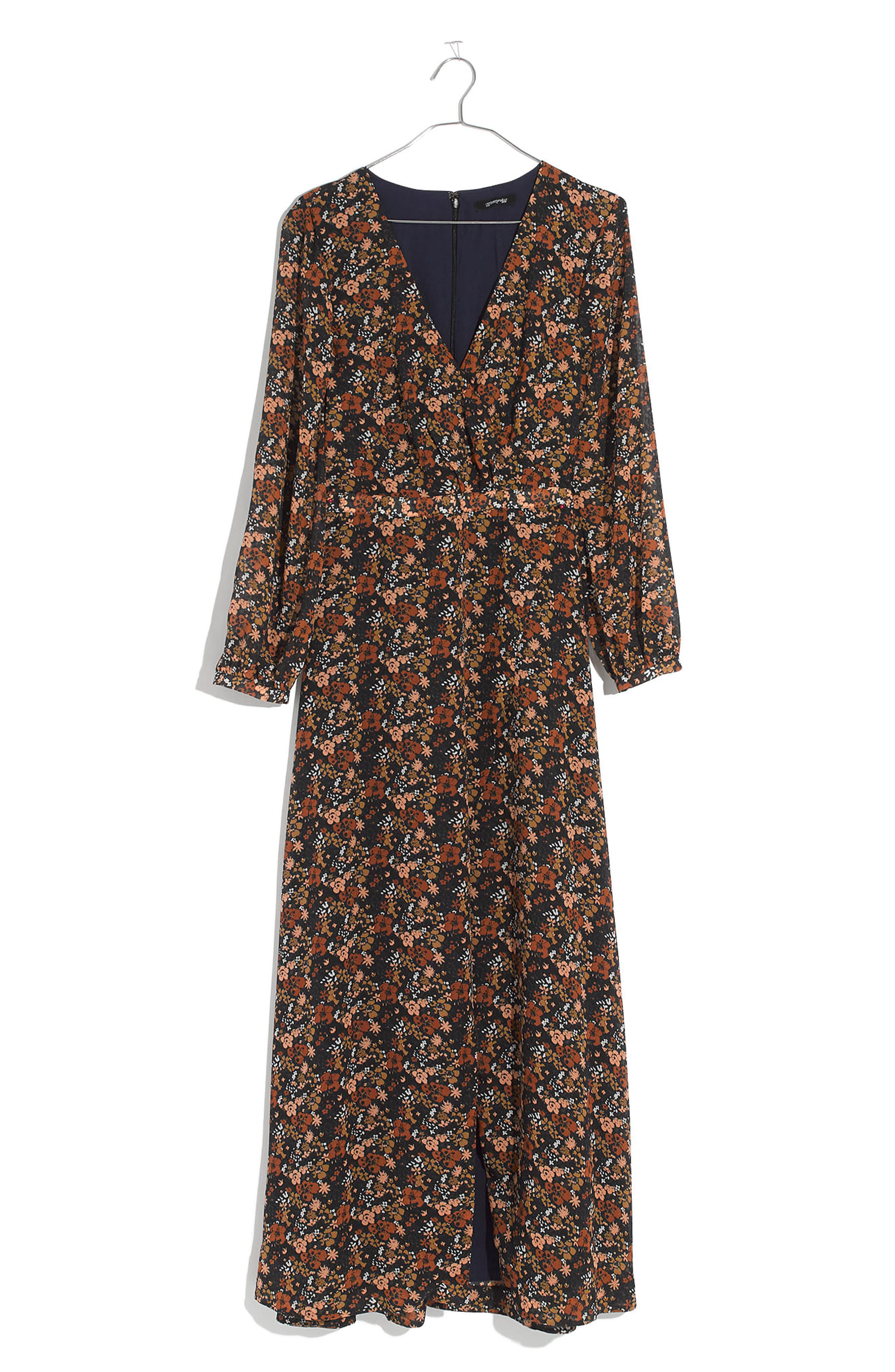 Nightflower Maxi Dress,                             Alternate thumbnail 4, color,                             Woodland Floral