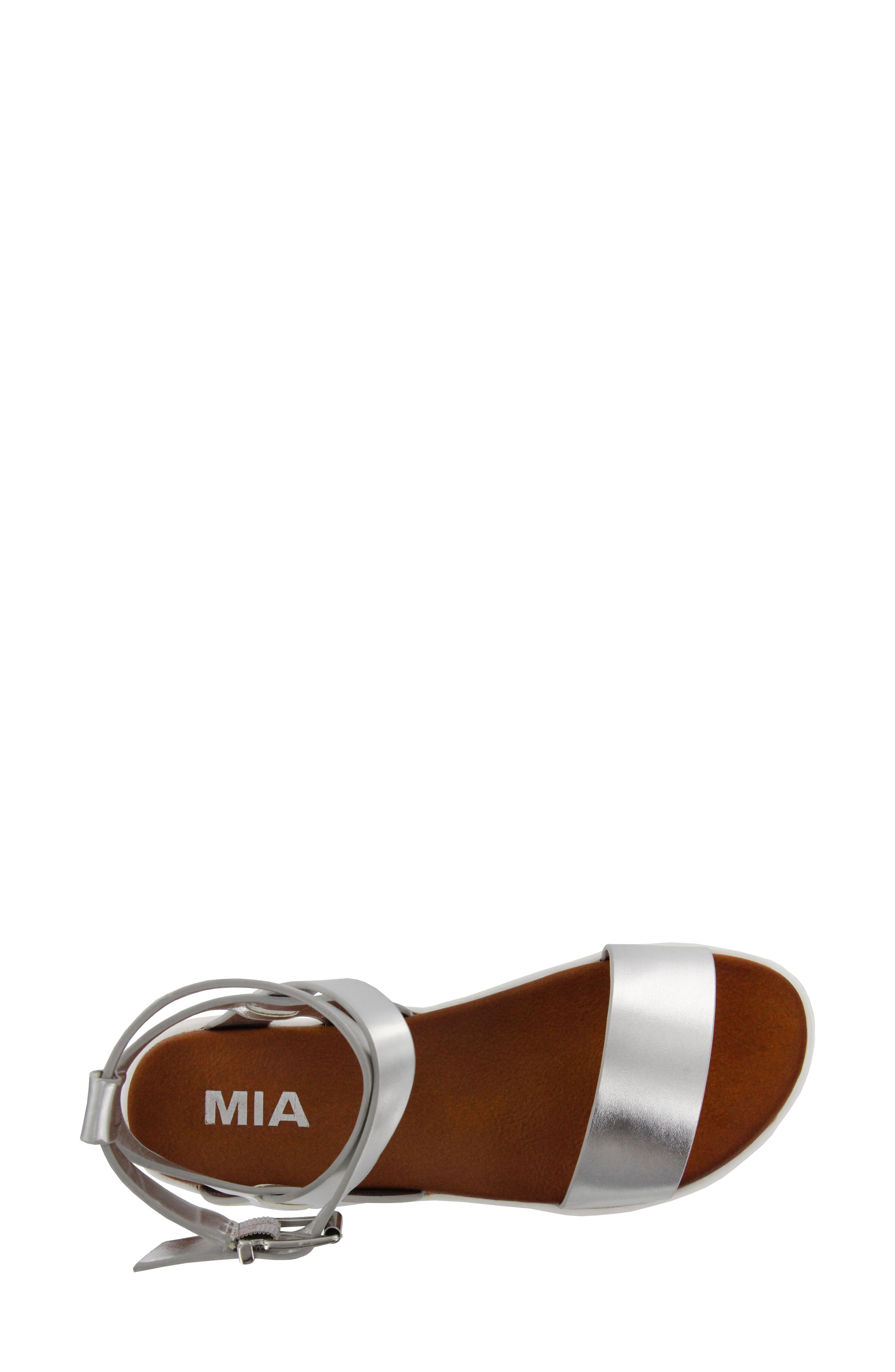 Calla Platform Sandal,                             Alternate thumbnail 5, color,                             Silver Faux Leather