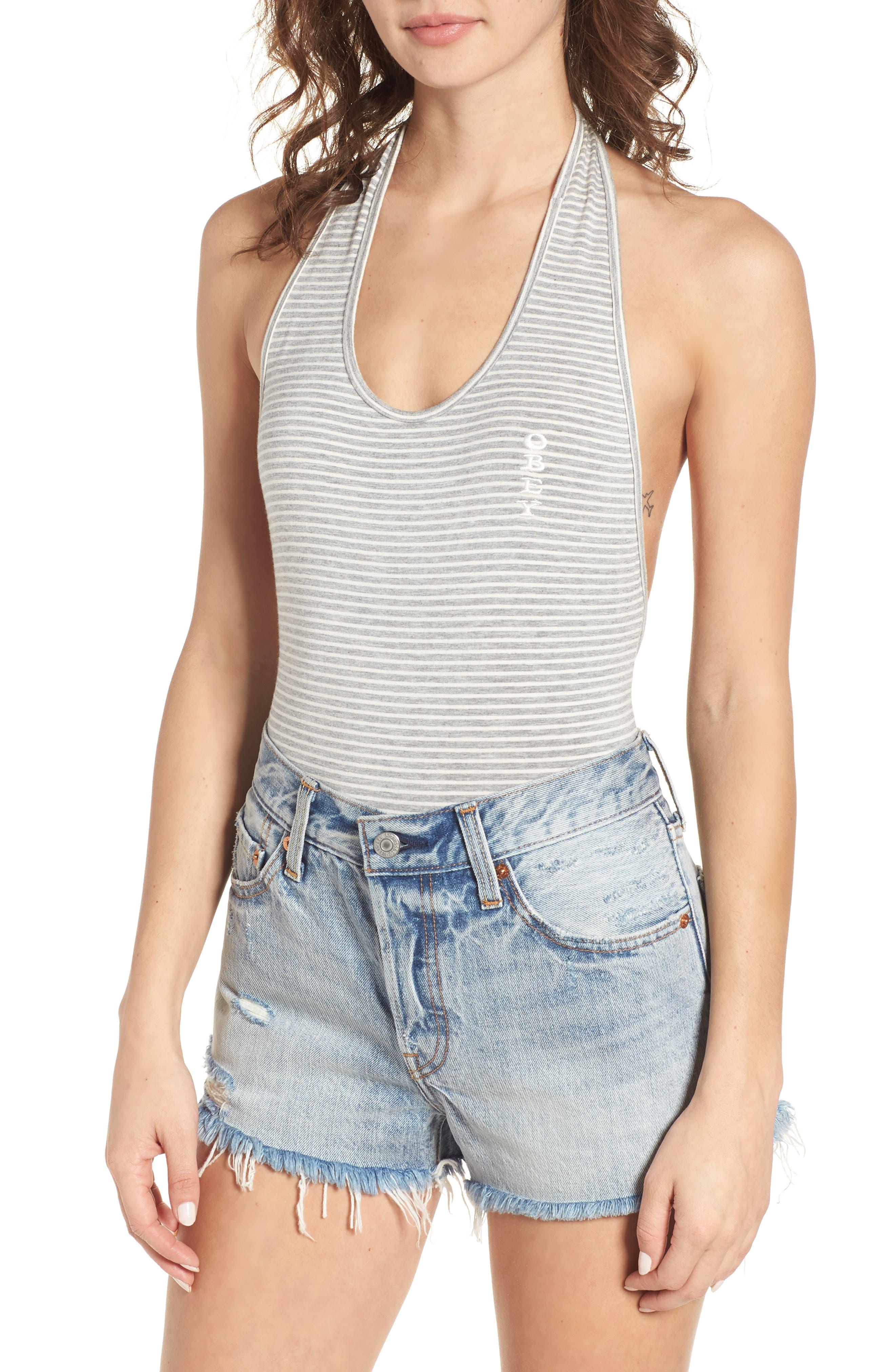Main Image - Obey Luna Stripe Bodysuit