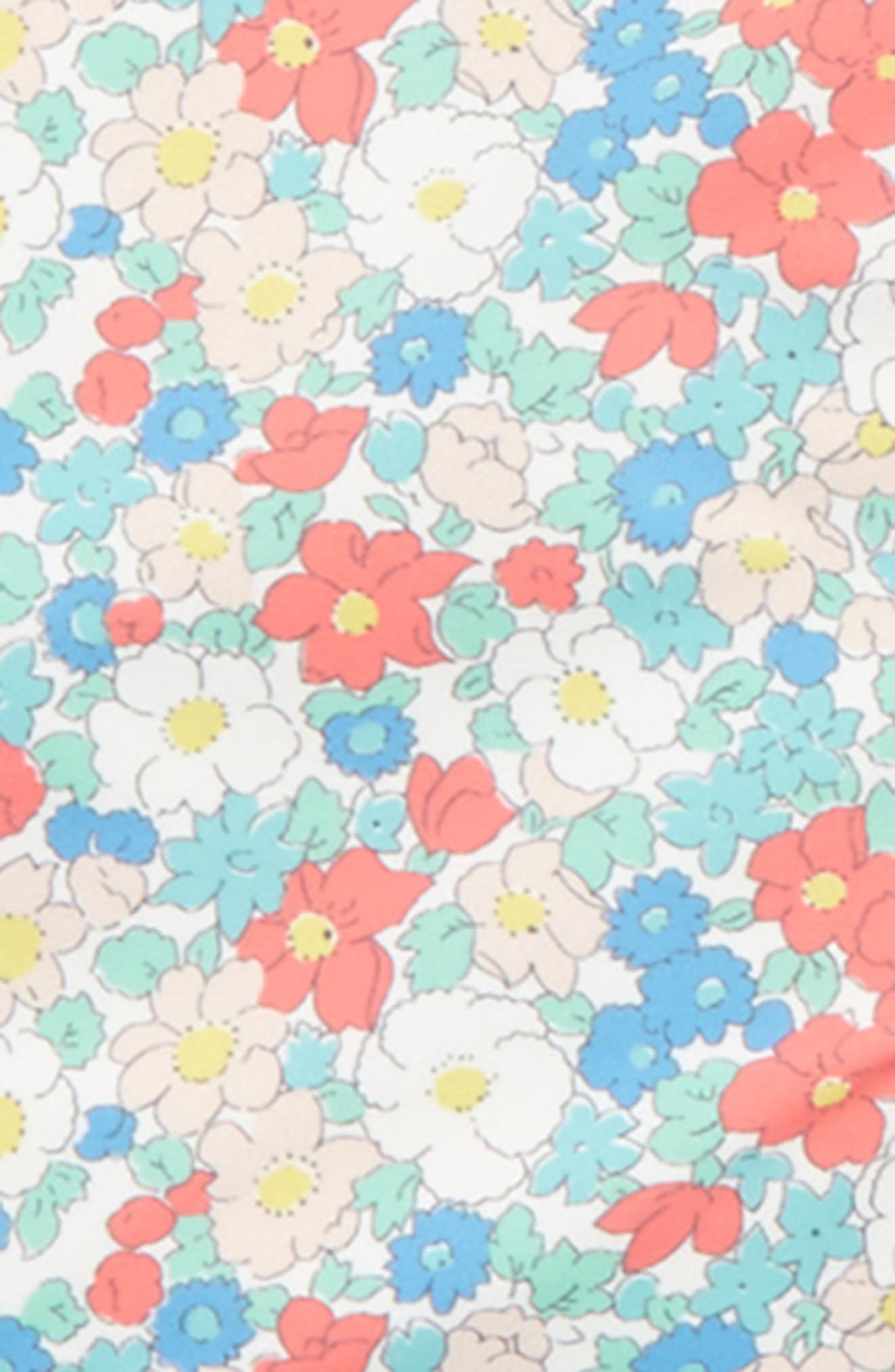 Packaway Waterproof Jacket,                             Alternate thumbnail 4, color,                             Strawberry Pink Floral