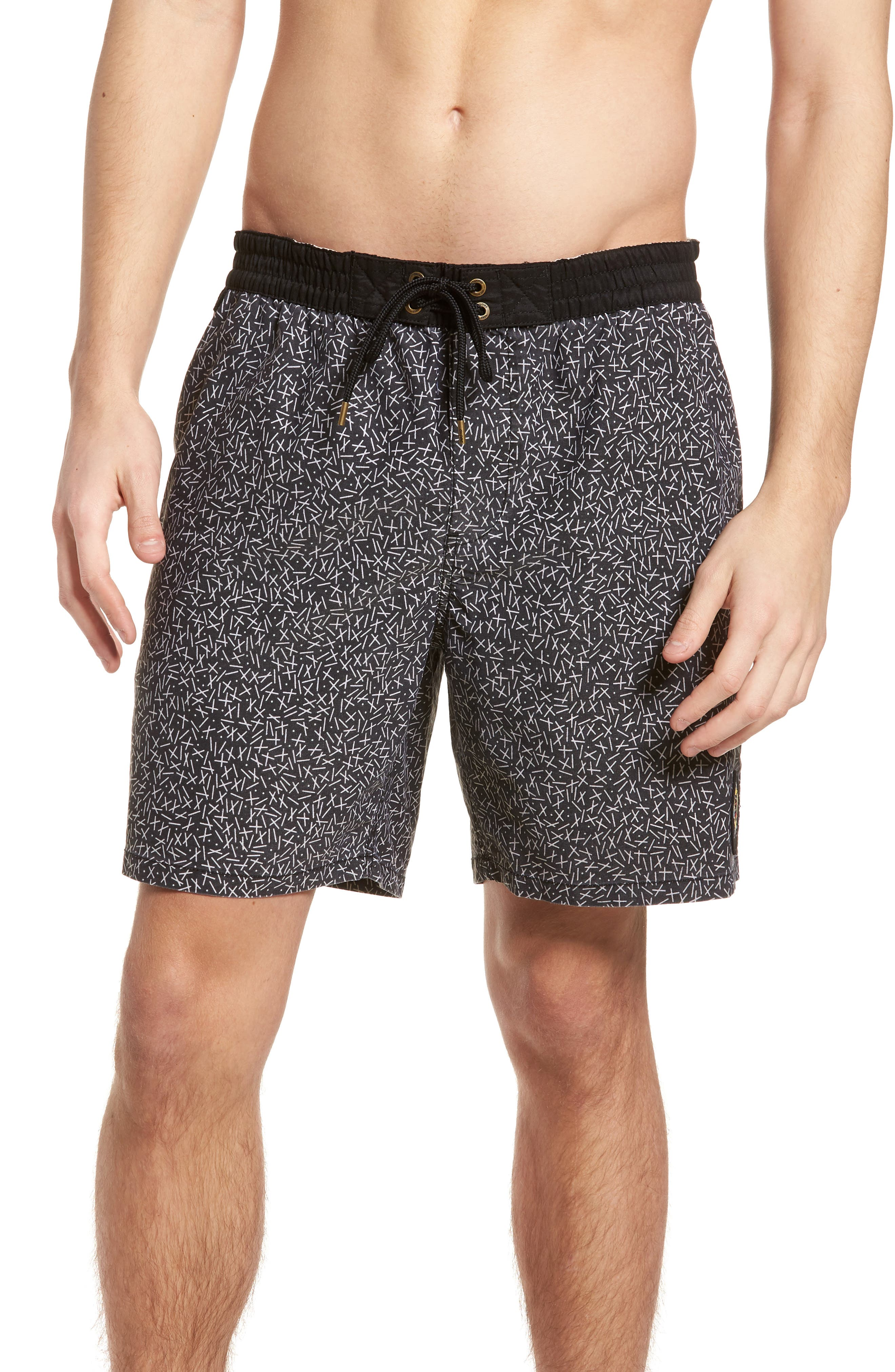 Distance Pool Shorts,                         Main,                         color, Black