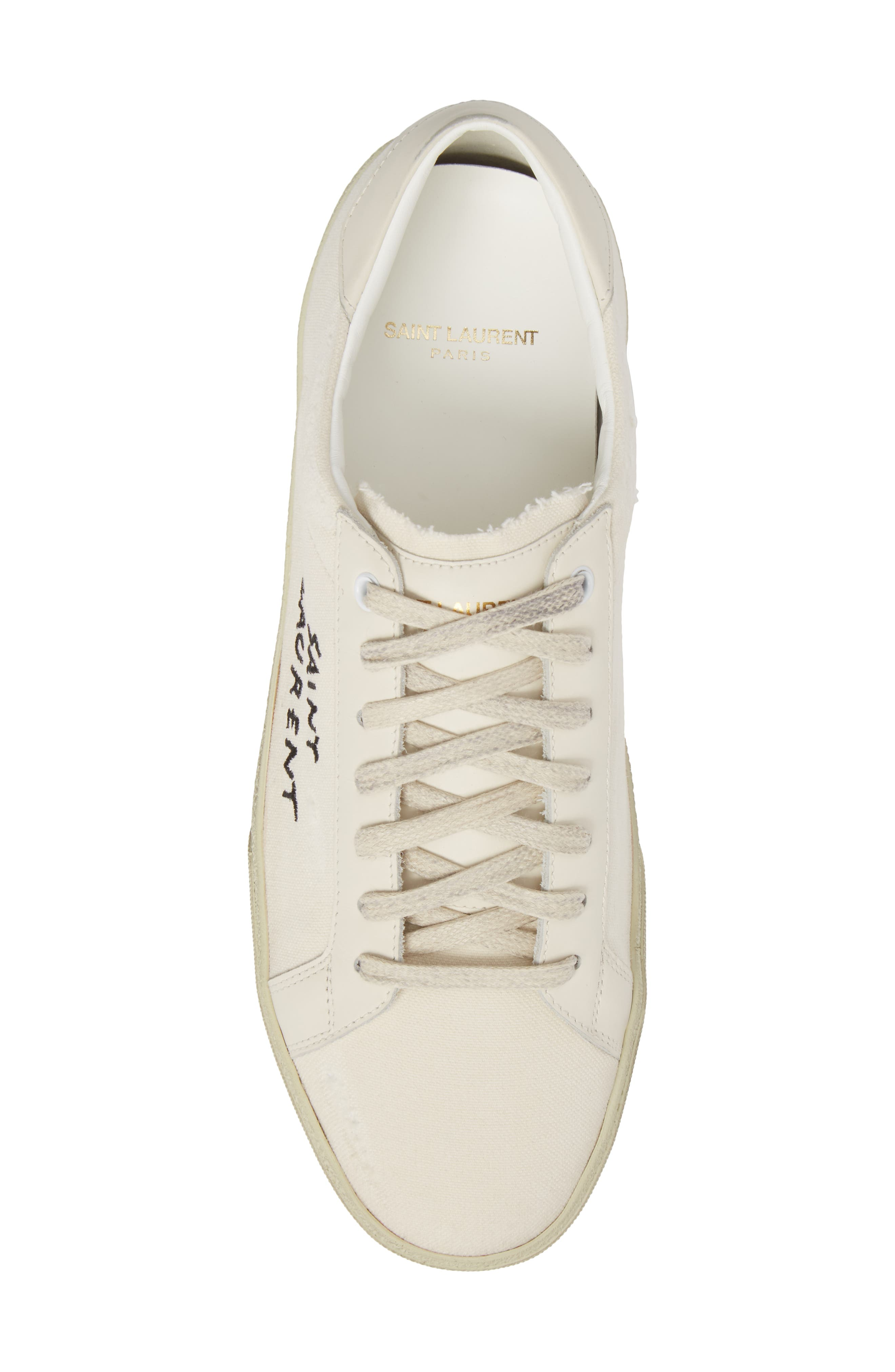 Embroidered Low Top Sneaker,                             Alternate thumbnail 5, color,                             Pesca