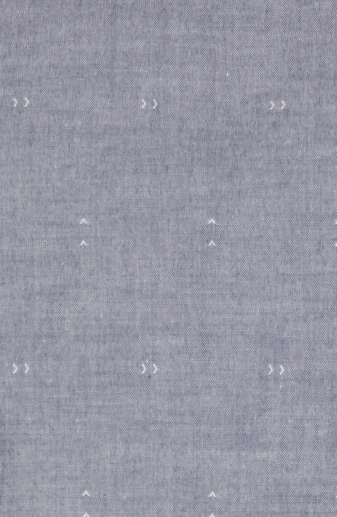Arrows Woven Shirt,                             Alternate thumbnail 5, color,                             Classic Indigo
