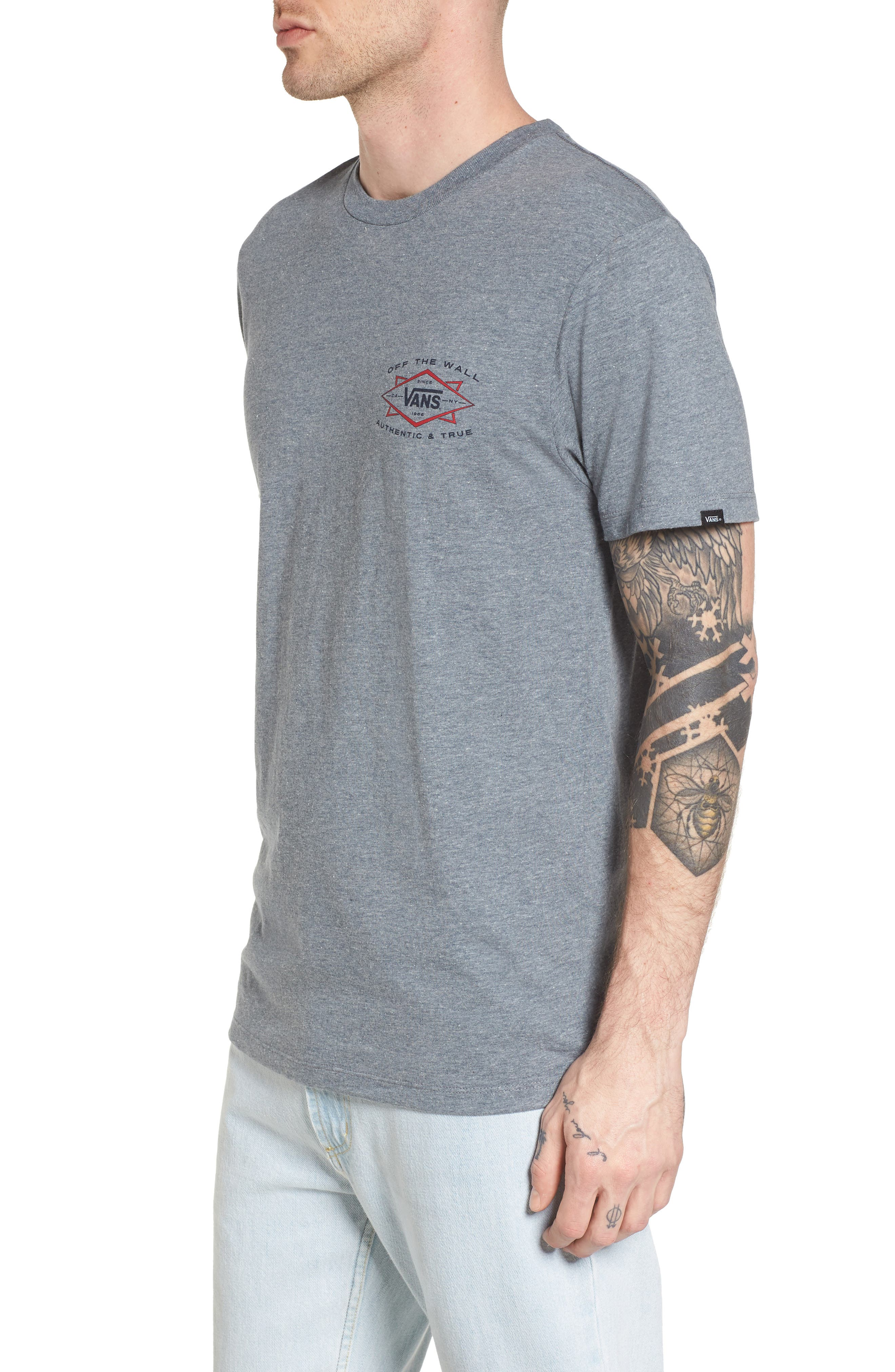 Off the Wall Shaper Graphic T-Shirt,                             Alternate thumbnail 3, color,                             Heather Grey