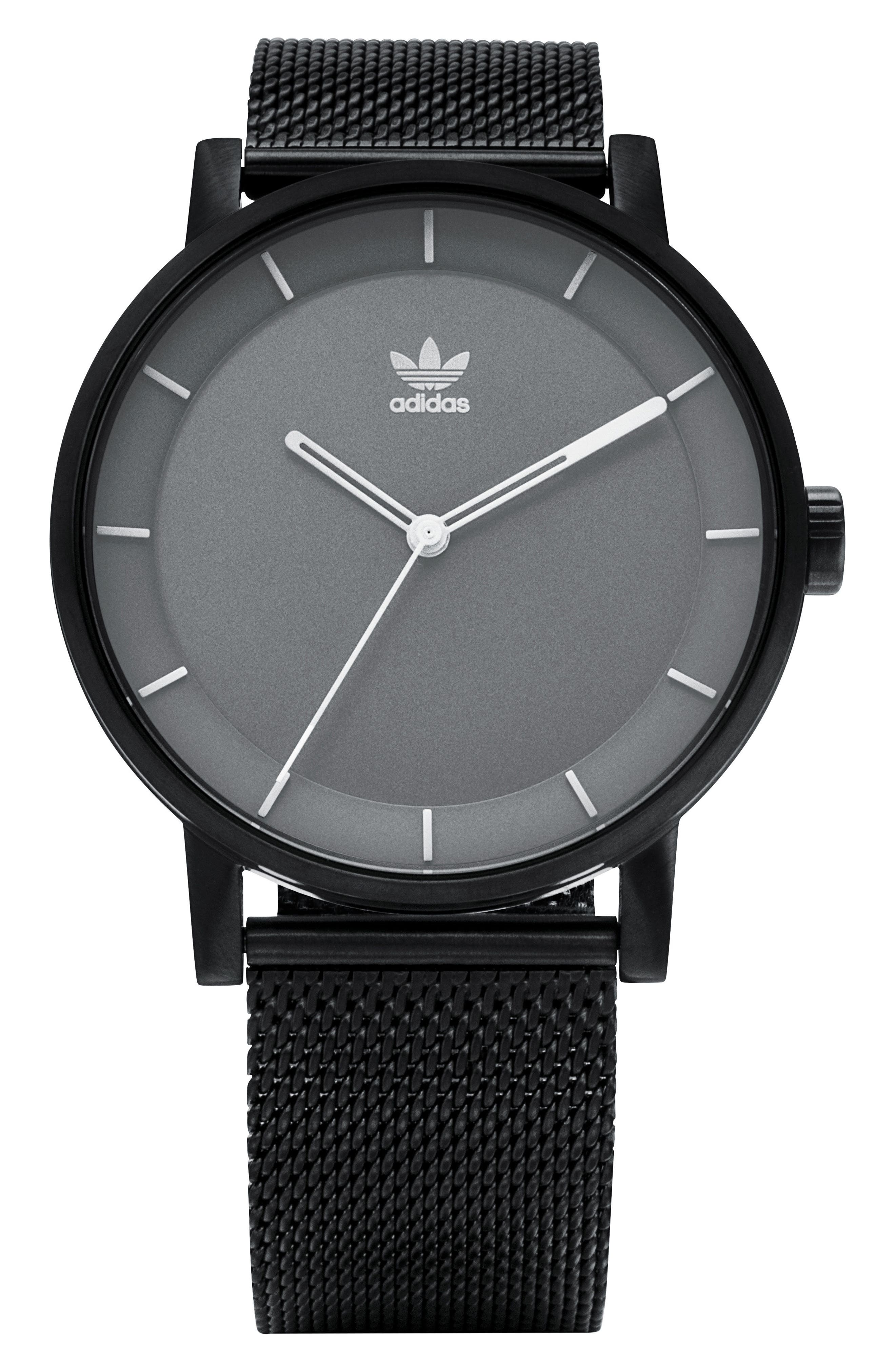 District Milanese Bracelet Watch, 40mm,                             Main thumbnail 1, color,                             Gunmetal/ Grey