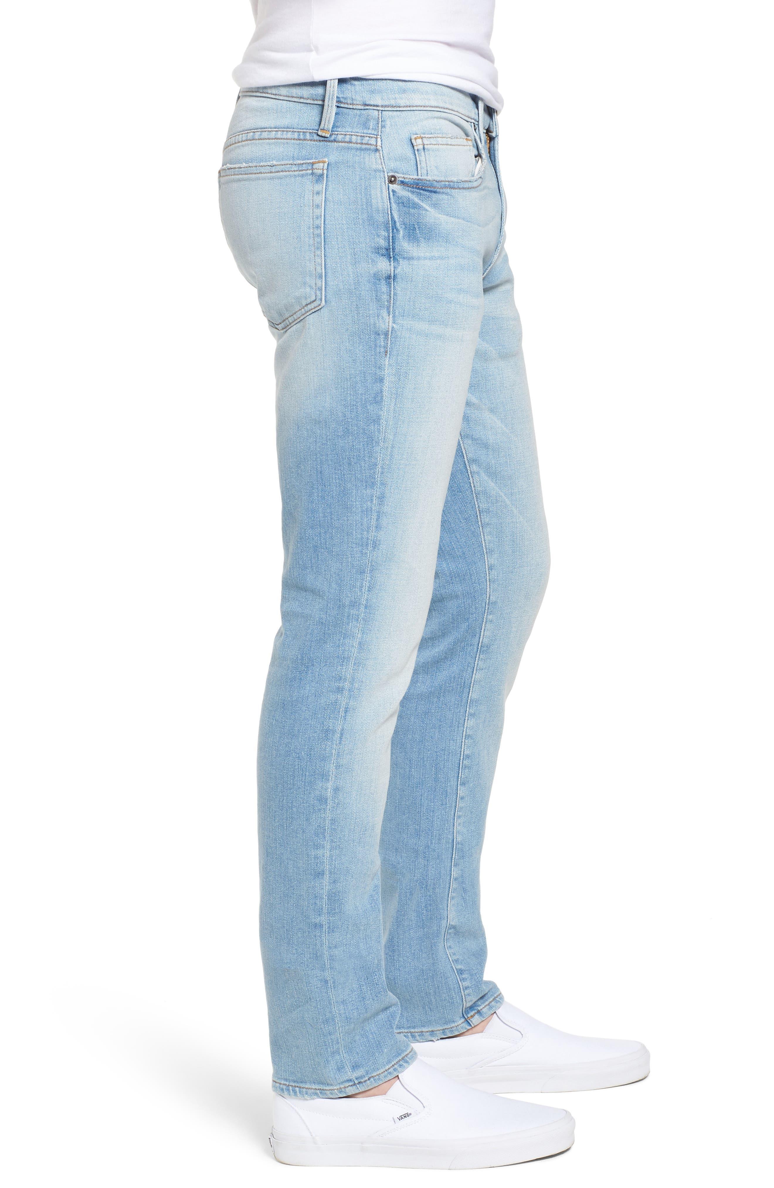 L'Homme Straight Leg Jeans,                             Alternate thumbnail 3, color,                             Finn