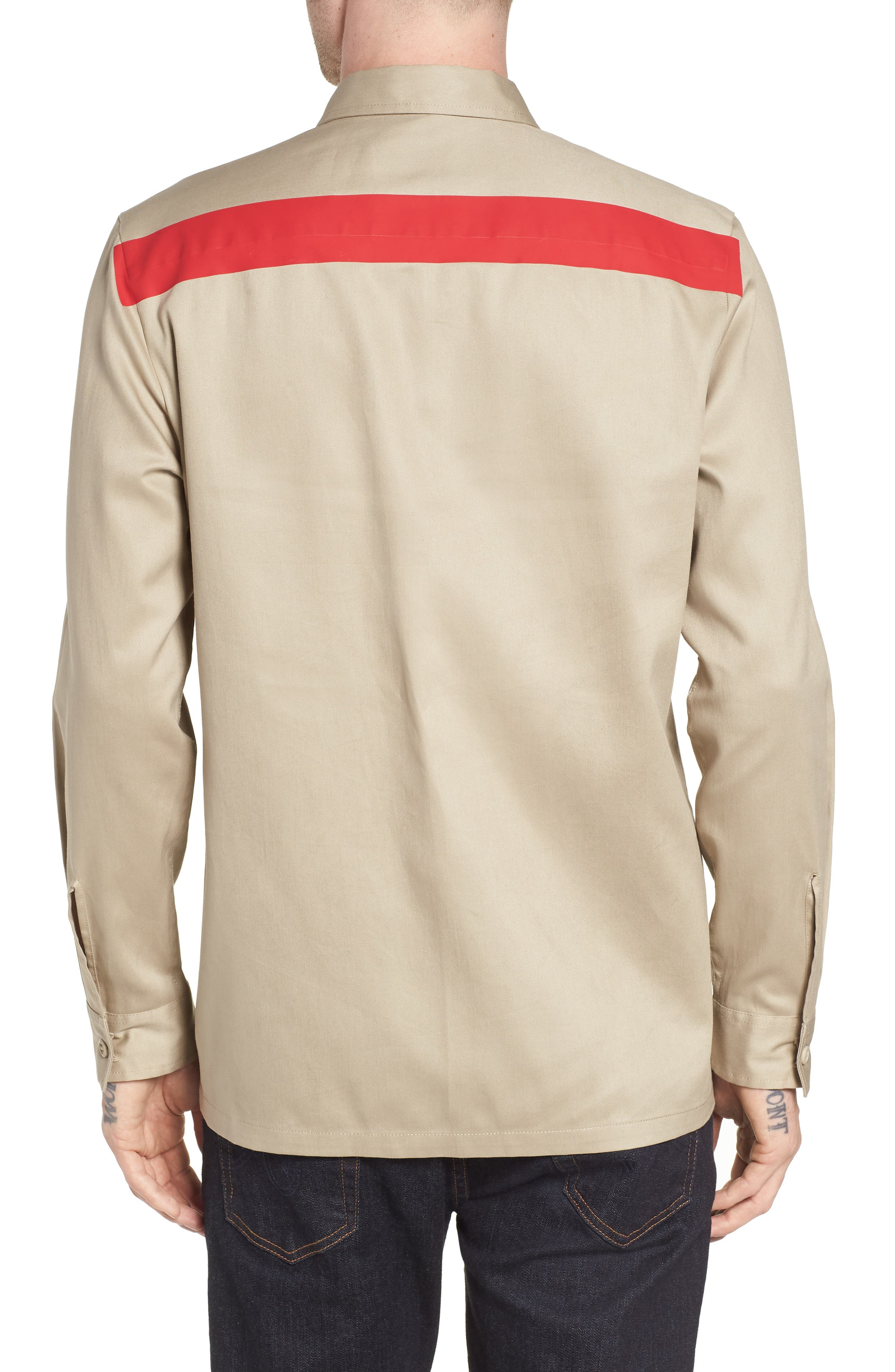 Placement Stripe Utility Shirt,                             Alternate thumbnail 2, color,                             Marble Canyon
