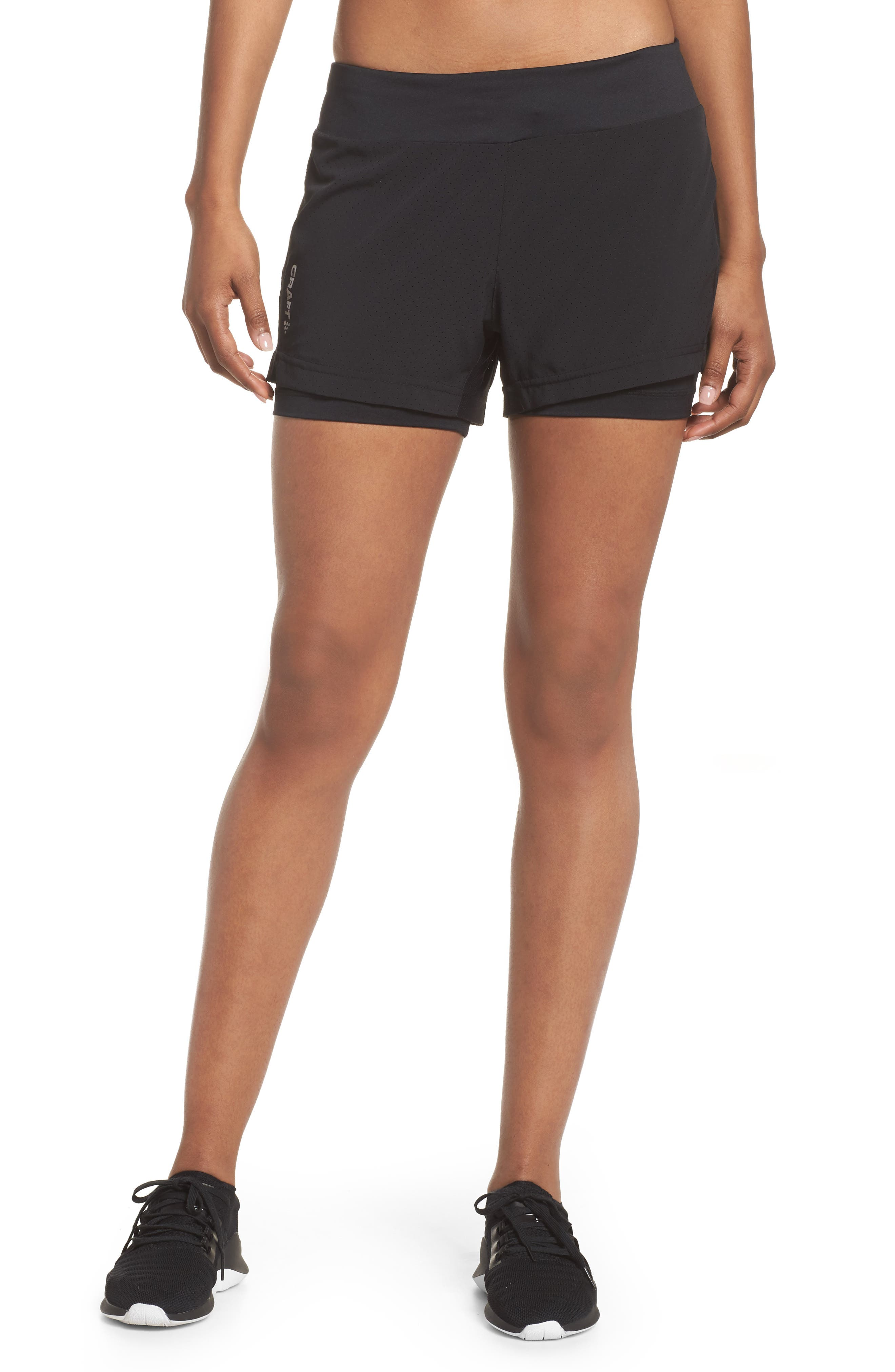 Breakaway 2-in-1 Shorts,                             Main thumbnail 1, color,                             Black