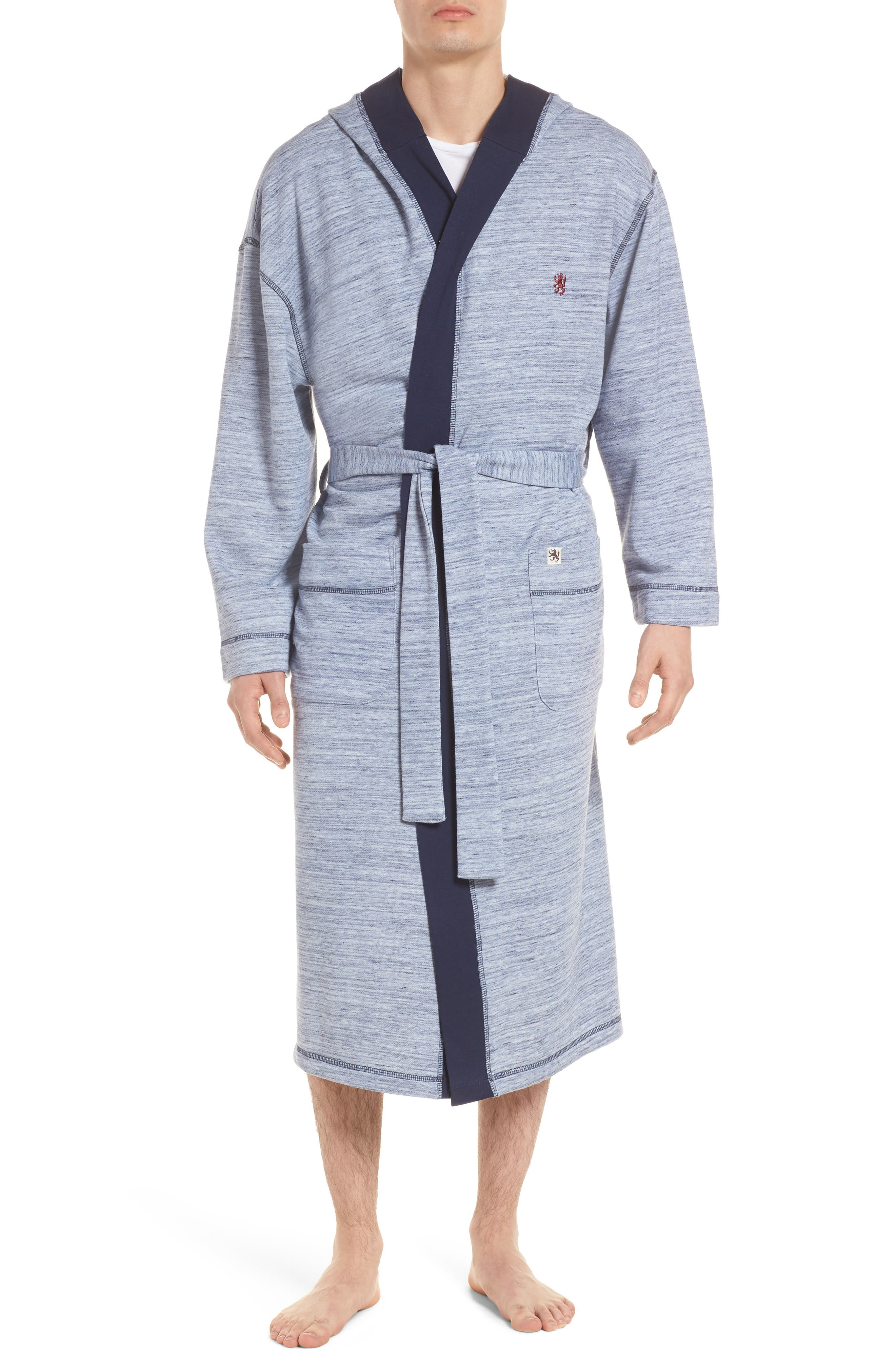 Swept In Waves Robe,                             Main thumbnail 1, color,                             Alfresco French Terry