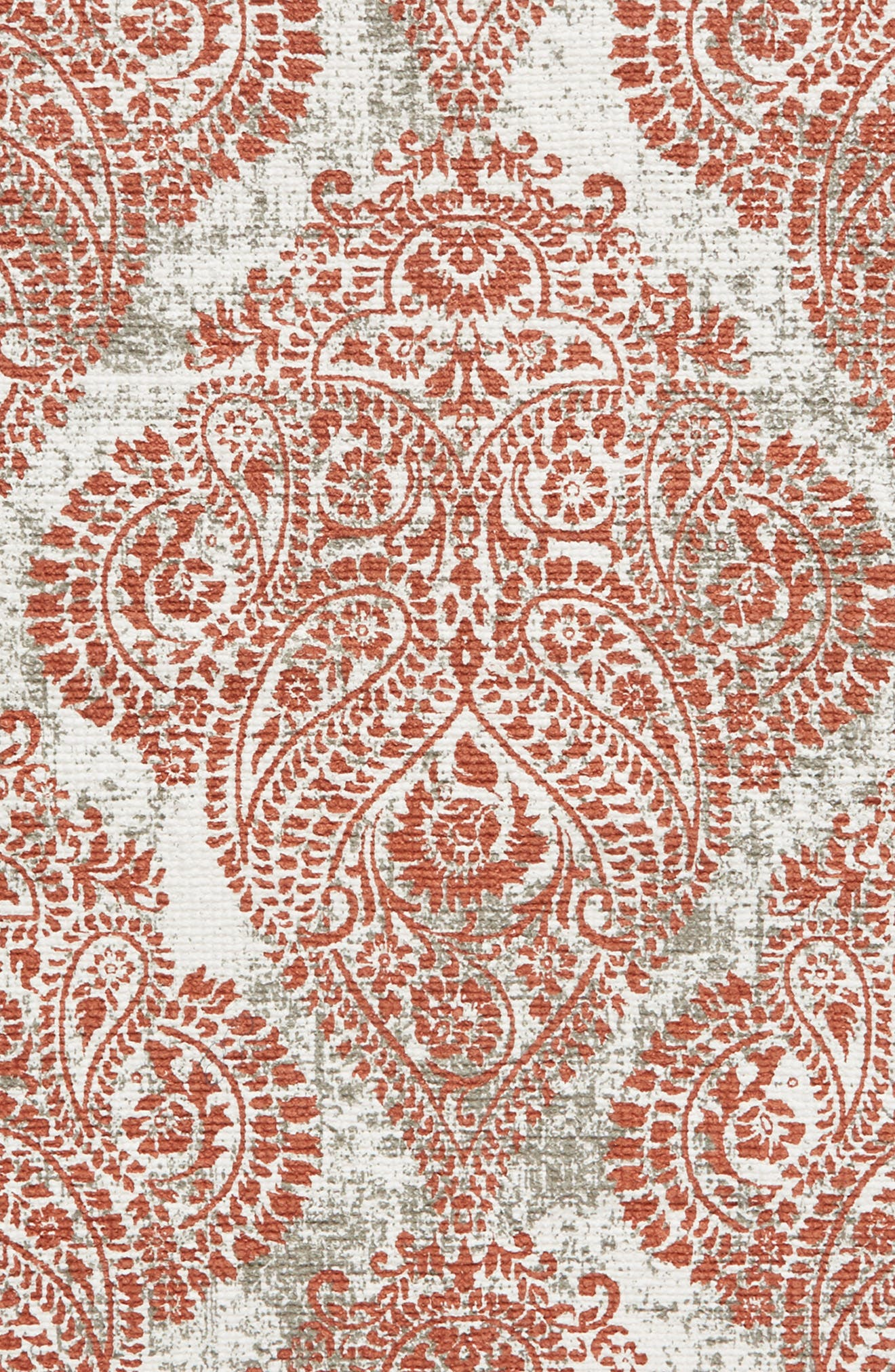 Paisley Fringe Rug,                             Alternate thumbnail 3, color,                             Rust Redwood 2X3