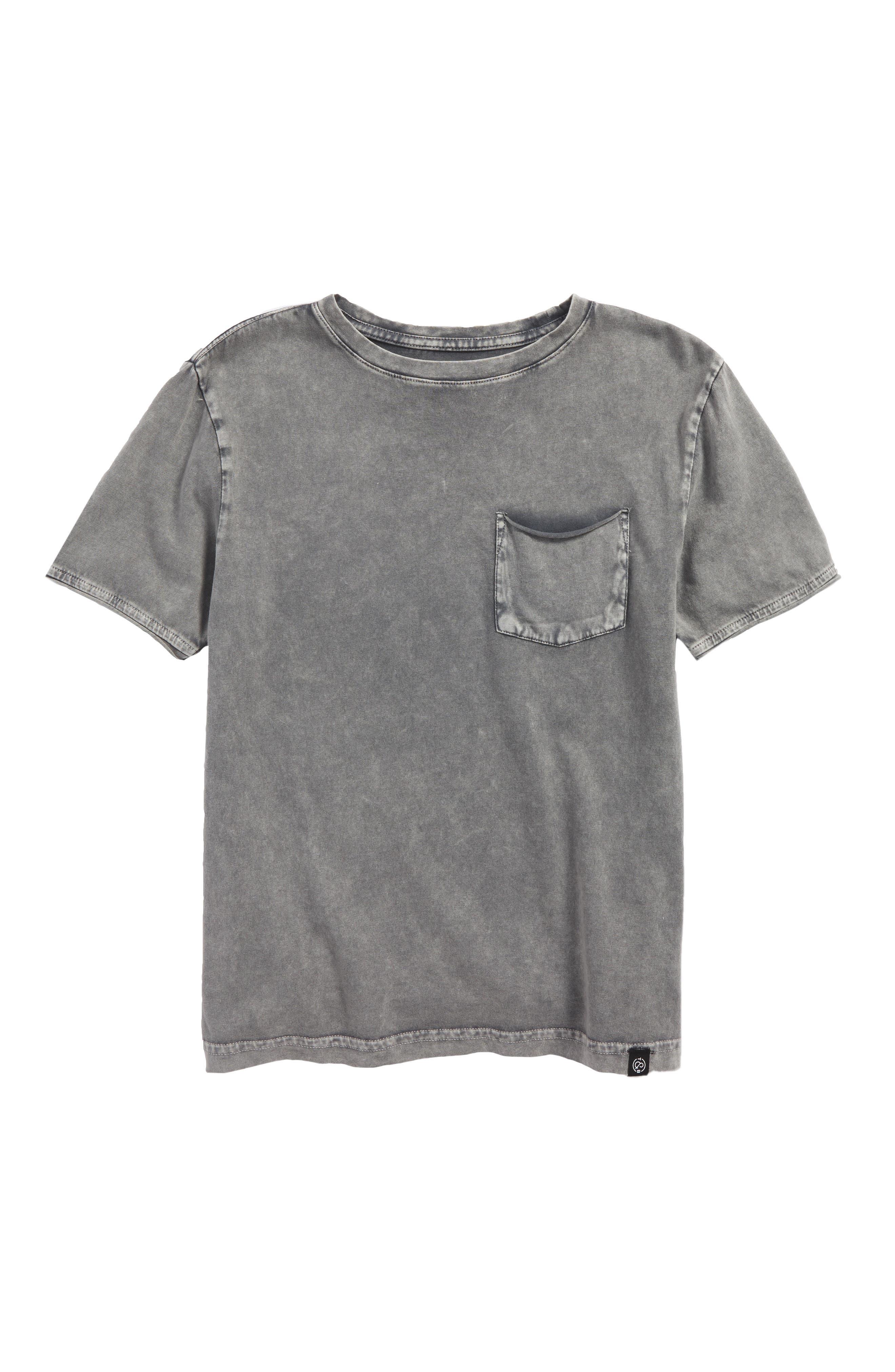 Washed Pocket T-Shirt,                         Main,                         color, Grey Sun