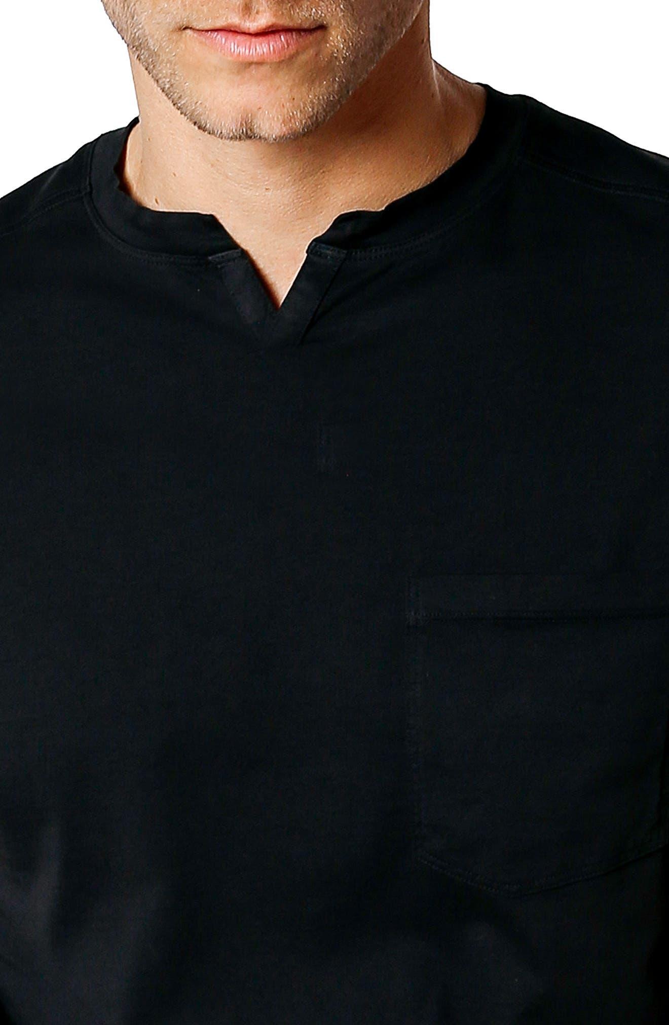 Slim Fit V-Neck T-Shirt,                             Alternate thumbnail 4, color,                             Black