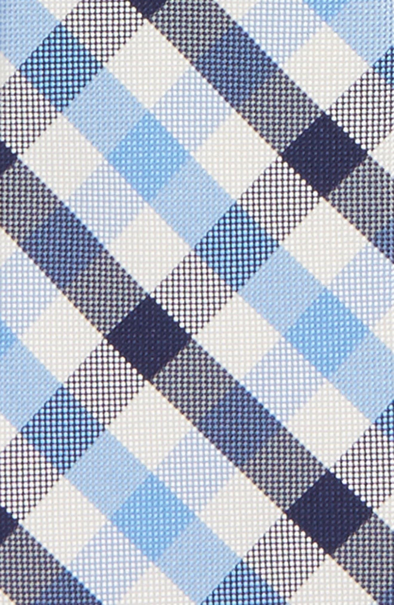 Window Plaid Silk Zip Tie,                             Alternate thumbnail 2, color,                             Light Blue