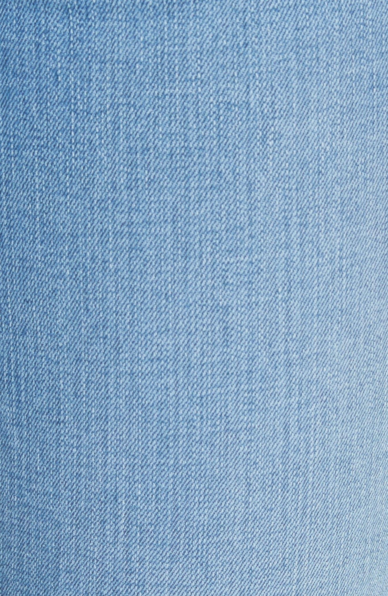 Raw Hem Capri Skinny Jeans,                             Alternate thumbnail 5, color,                             Levee