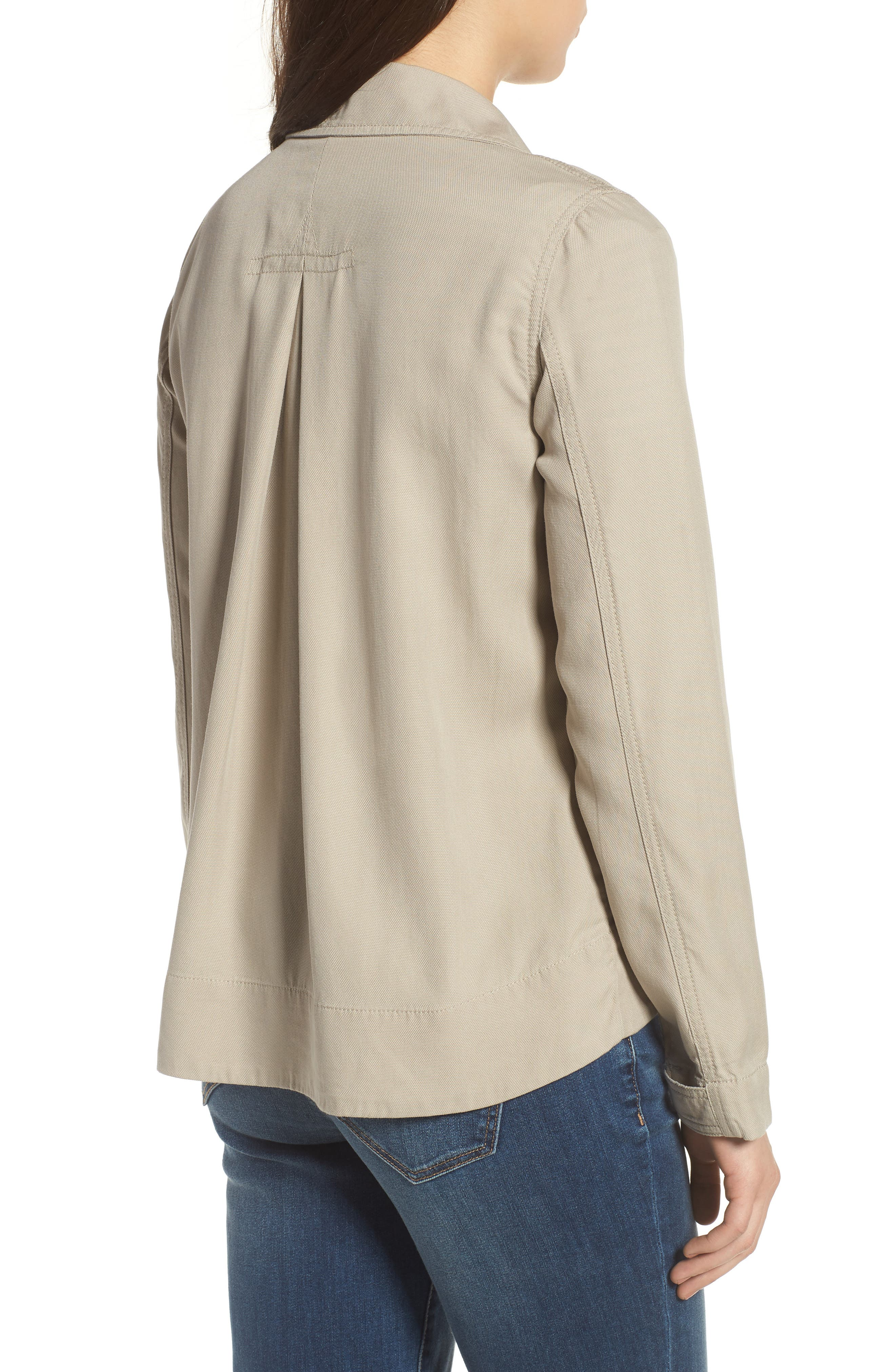 Flyaway Shirt Jacket,                             Alternate thumbnail 2, color,                             Chateau Gray