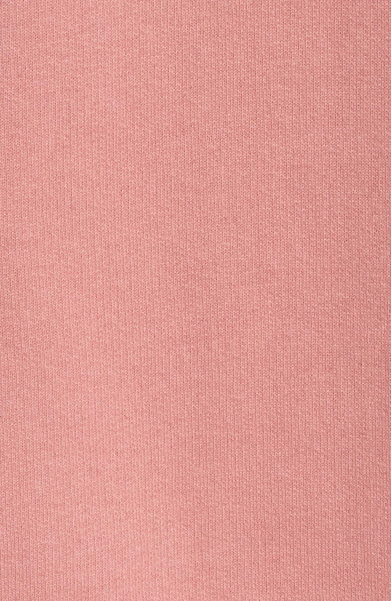 Brunette Raw Hem Hoodie,                             Alternate thumbnail 6, color,                             Dusty Rose