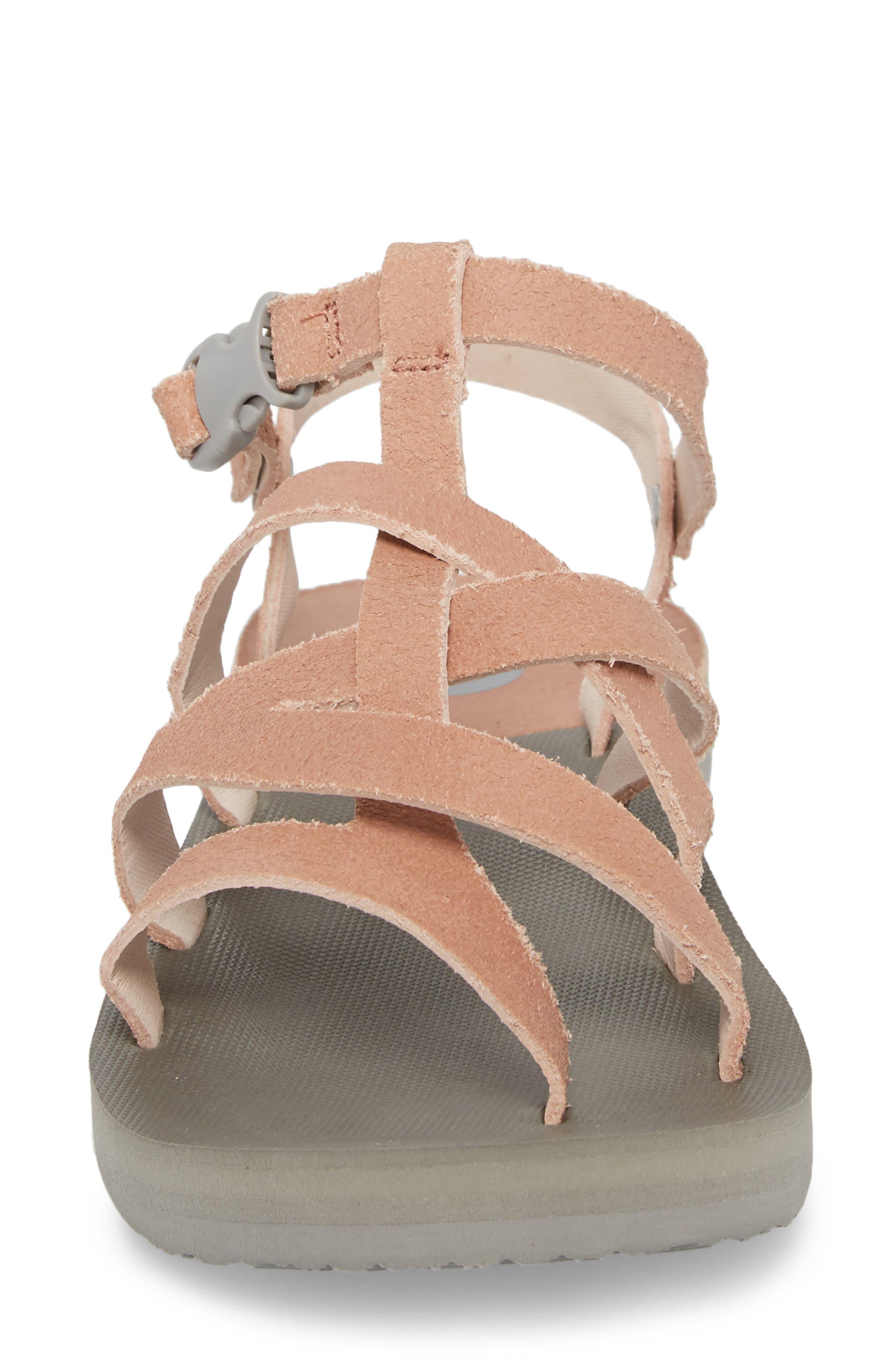 Base Camp Plus II Gladiator Sandal,                             Alternate thumbnail 4, color,                             Evening Sand Pink/ Foil Grey