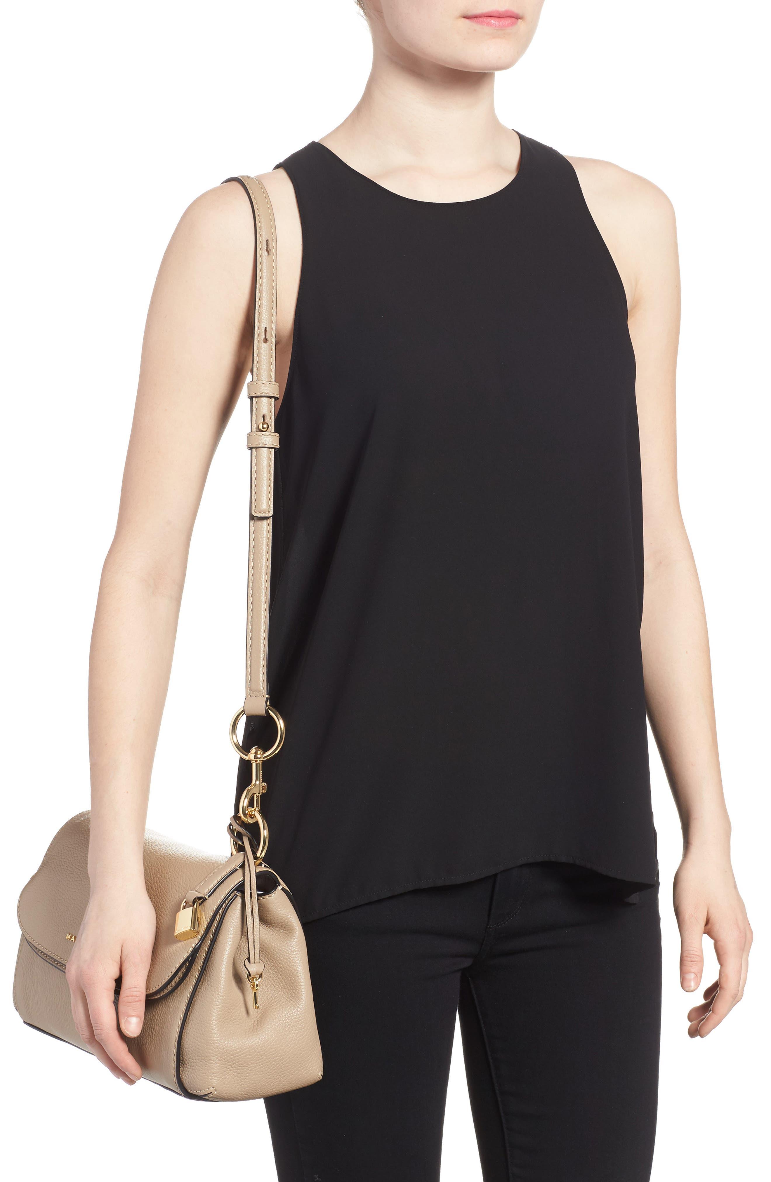 The Grind Boho Leather Shoulder Bag,                             Alternate thumbnail 2, color,                             Light Slate