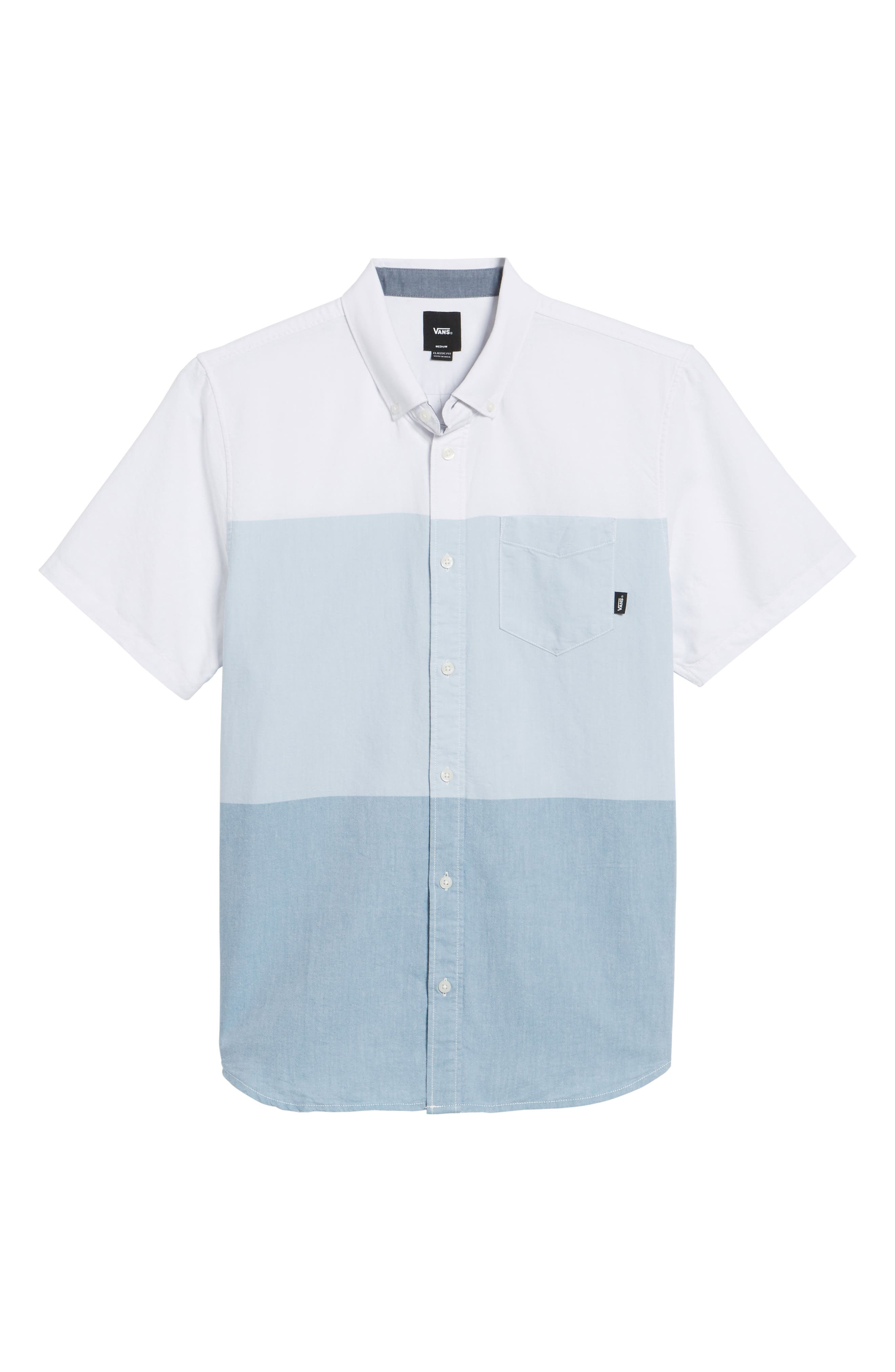 Houser Woven Shirt,                             Alternate thumbnail 6, color,                             White/ Real Teal