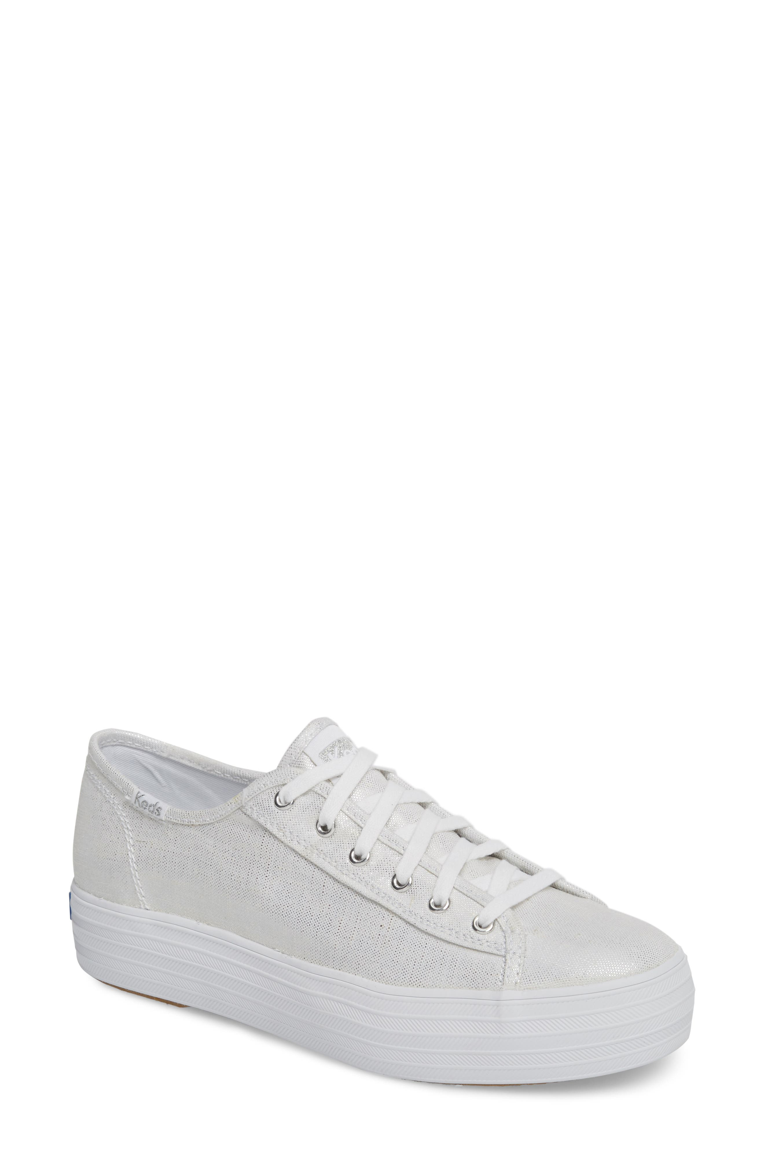 Keds® Triple Kick Metallic Linen Sneaker (Women)